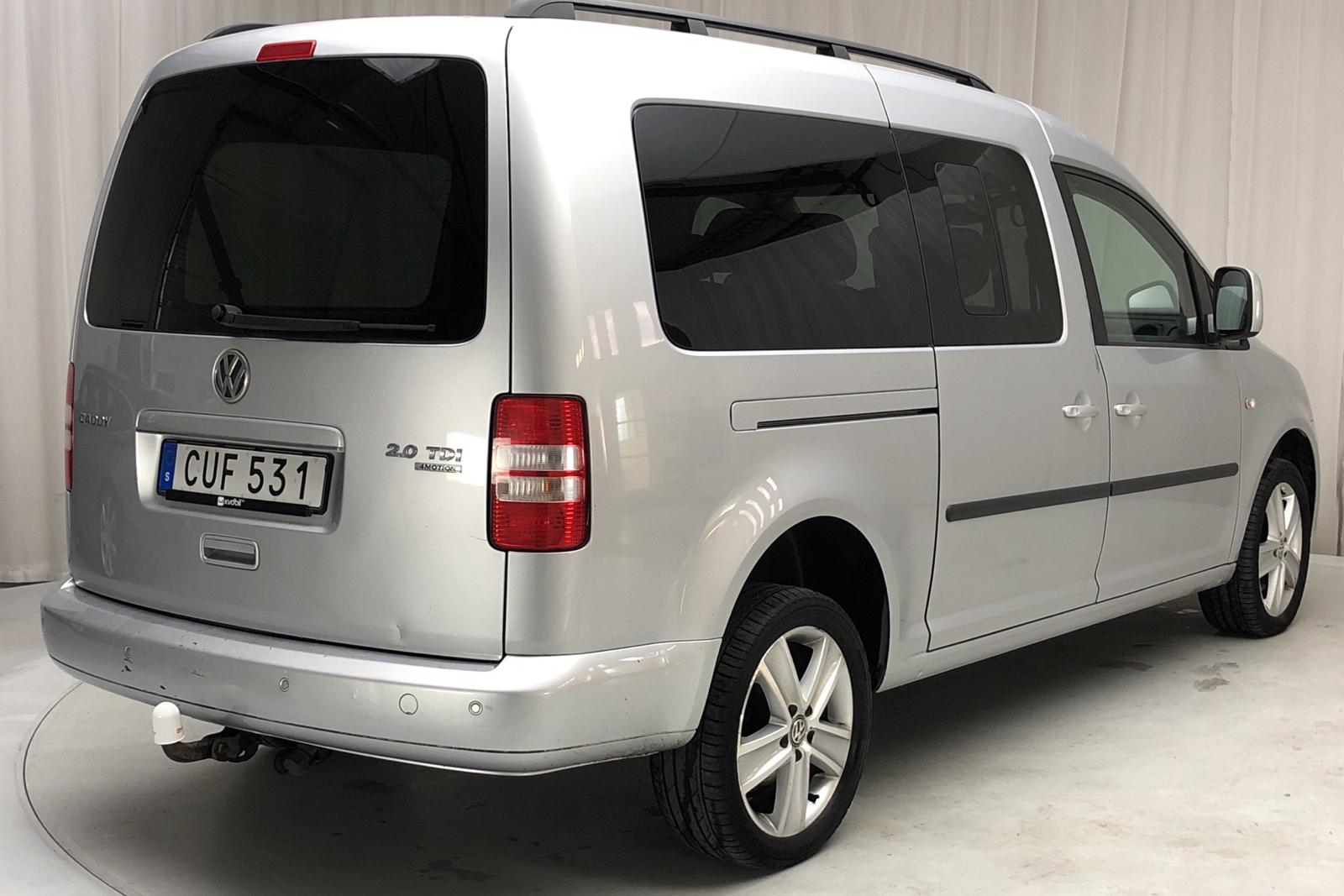 VW Caddy MPV Maxi 2.0 TDI 4Motion (140hk) - 18 500 mil - Automat - silver - 2015