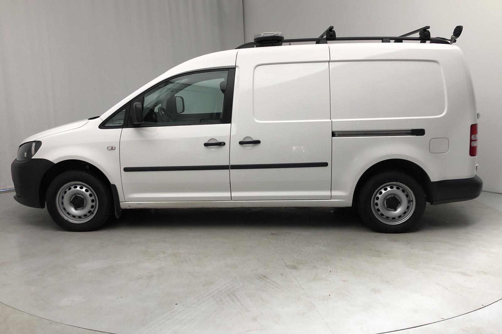 VW Caddy 2.0 Ecofuel Maxi Skåp (109hk) - 5 300 mil - Manuell - vit - 2015