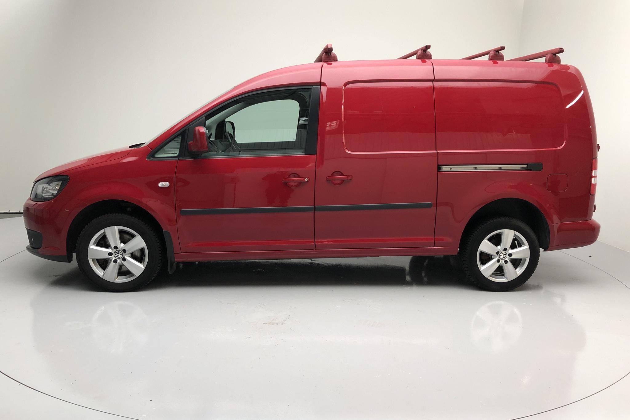 VW Caddy 2.0 TDI Maxi Skåp 4-motion (140hk) - 83 770 km - Automatic - red - 2014