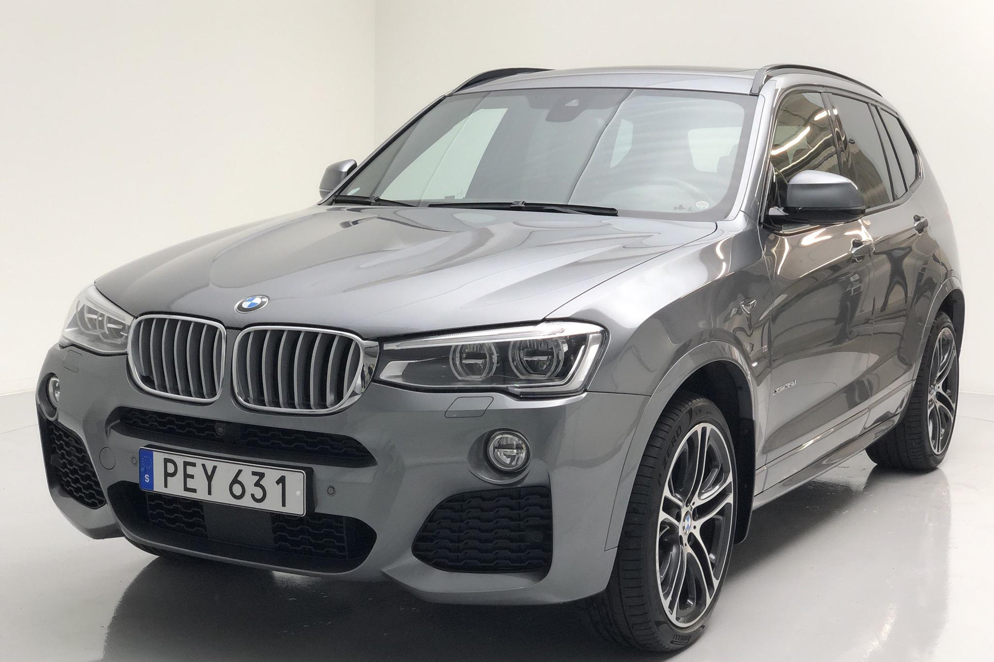 BMW X3 xDrive35d, F25 (313hk) - 44 090 km - Automatic - gray - 2017