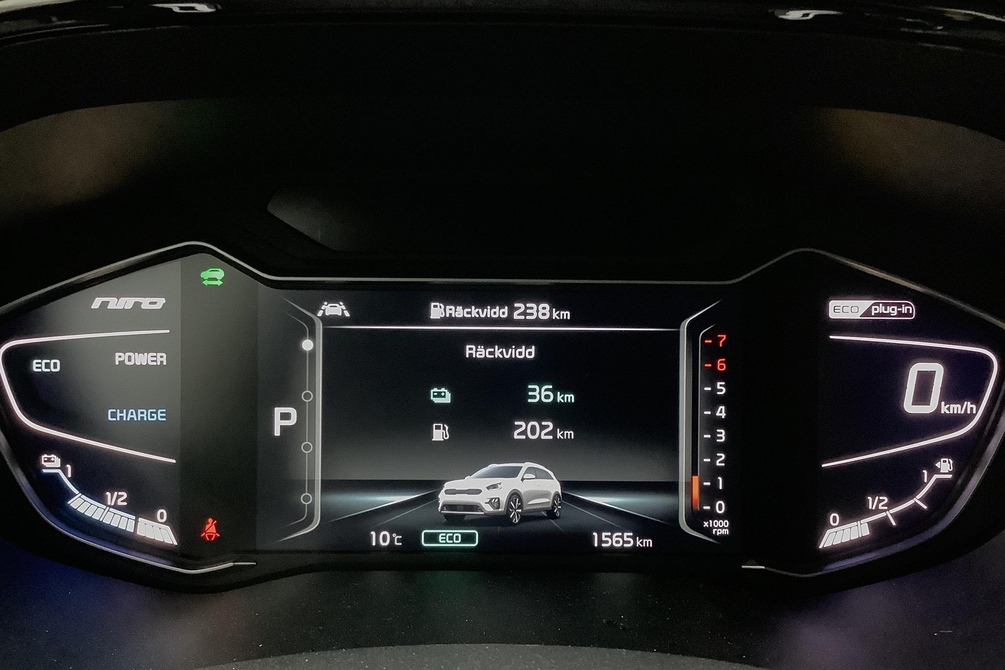 KIA Niro Plug-in Hybrid 1.6 LCI (141hk) - 1 560 km - Automatic - black - 2020
