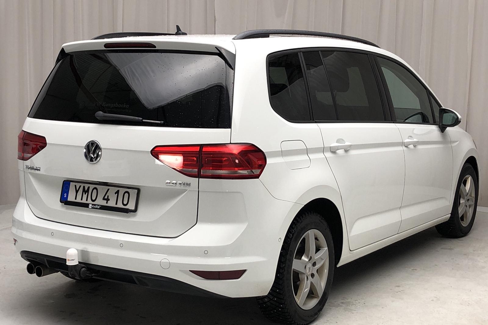 VW Touran 2.0 TDI 7 sits aut. panorama (150hk) - 181 880 km - Automatic - white - 2018
