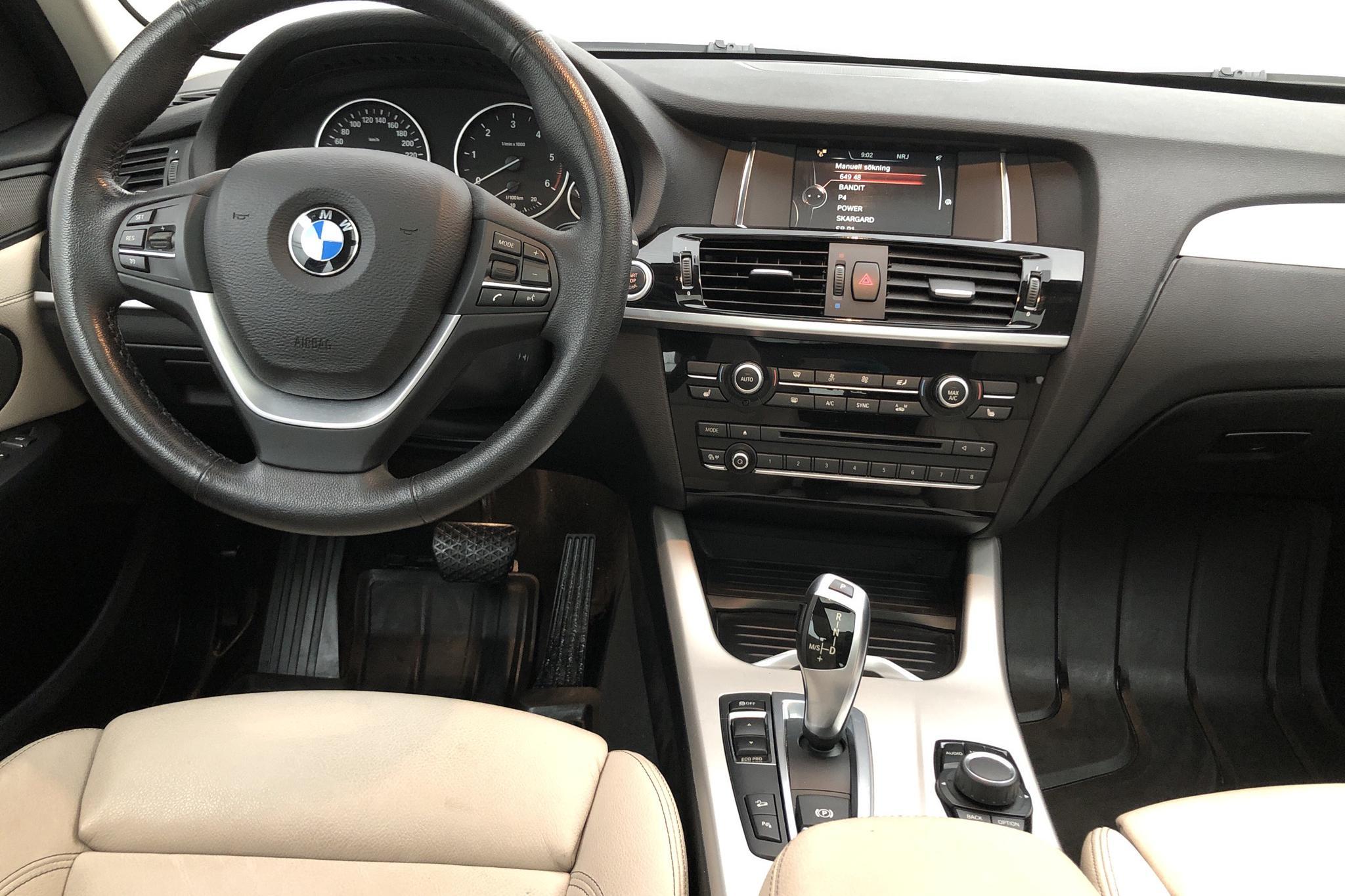 BMW X3 xDrive20d, F25 (190hk) - 5 390 mil - Automat - svart - 2017