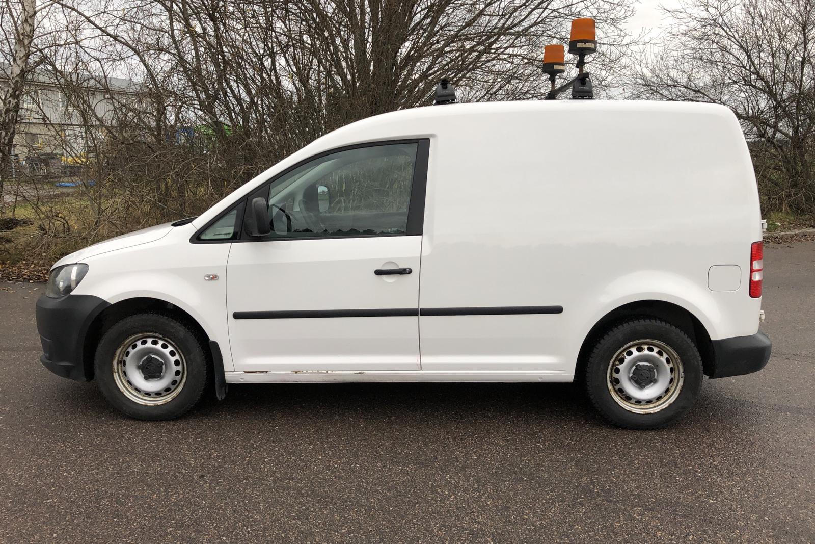 VW Caddy 2.0 Ecofuel Skåp (109hk) - 13 140 mil - Manuell - vit - 2012