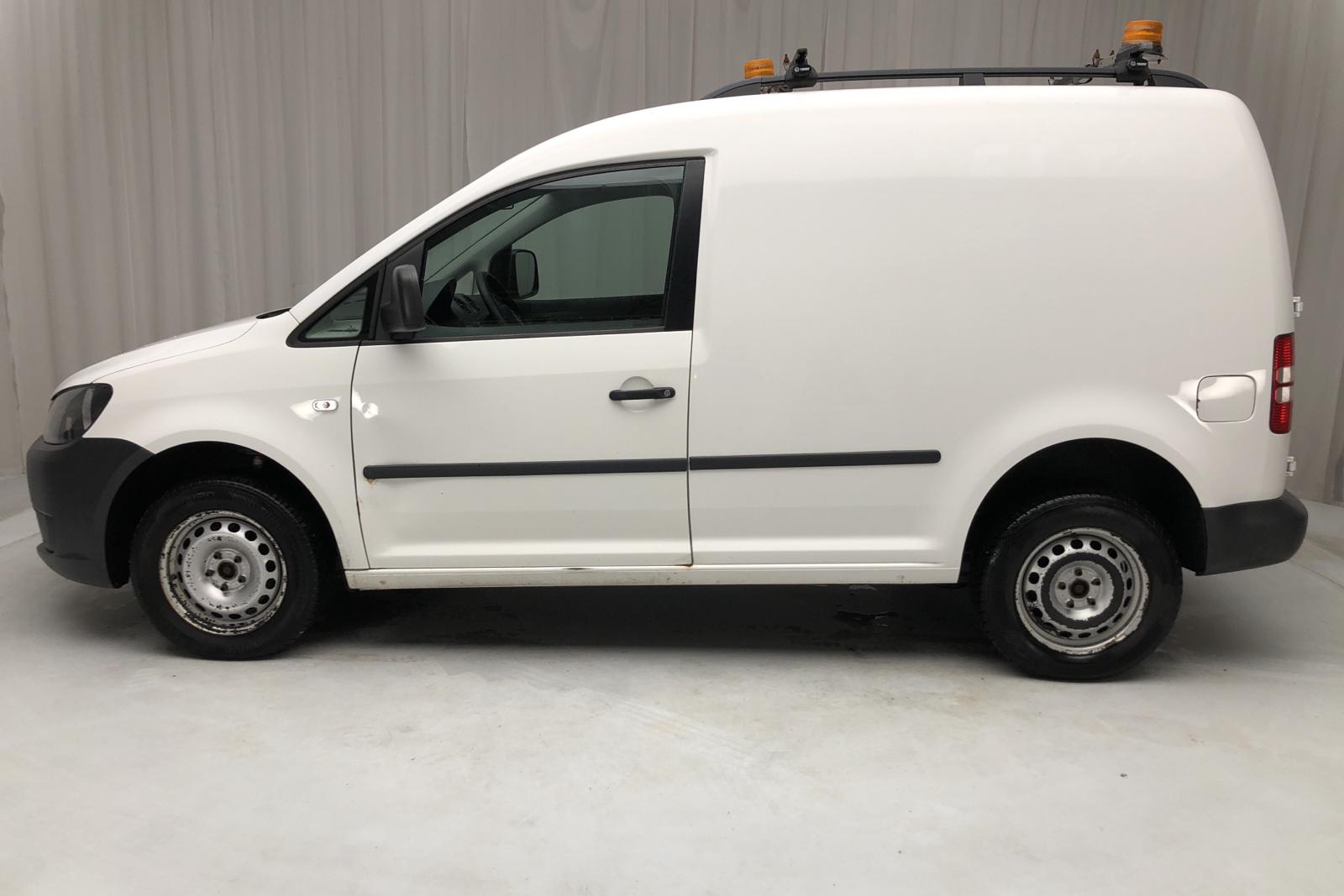 VW Caddy 2.0 TDI Skåp 4-motion (110hk) - 211 070 km - Manual - white - 2014