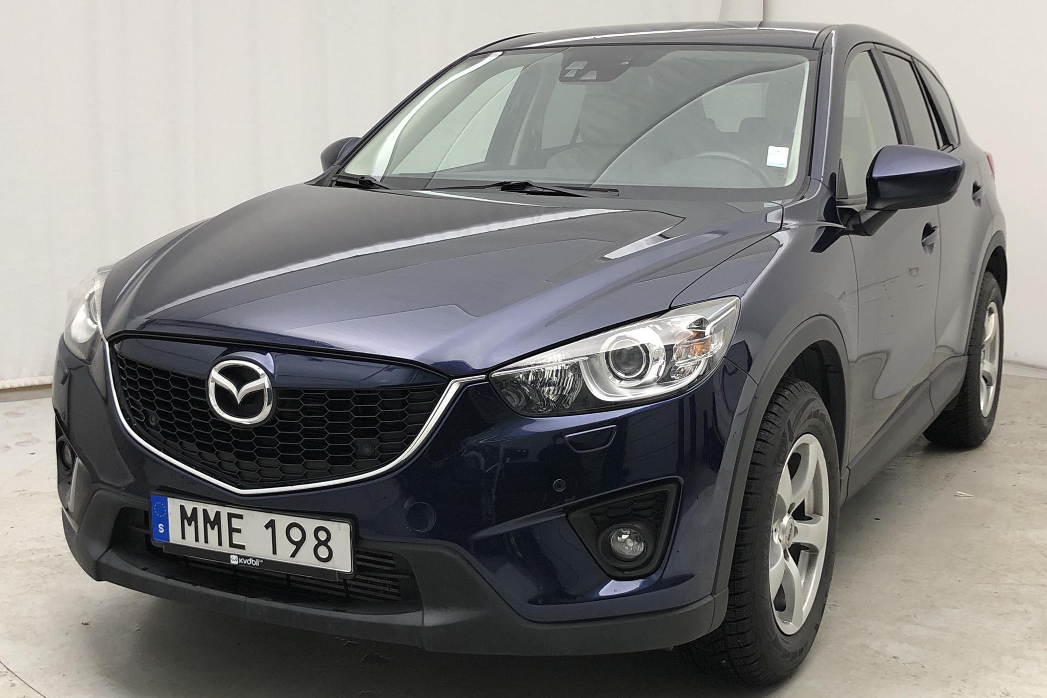 Mazda CX-5 2.2 DE AUT, Navi, Skinn AWD (175hk) - 12 380 mil - Automat - blå - 2014