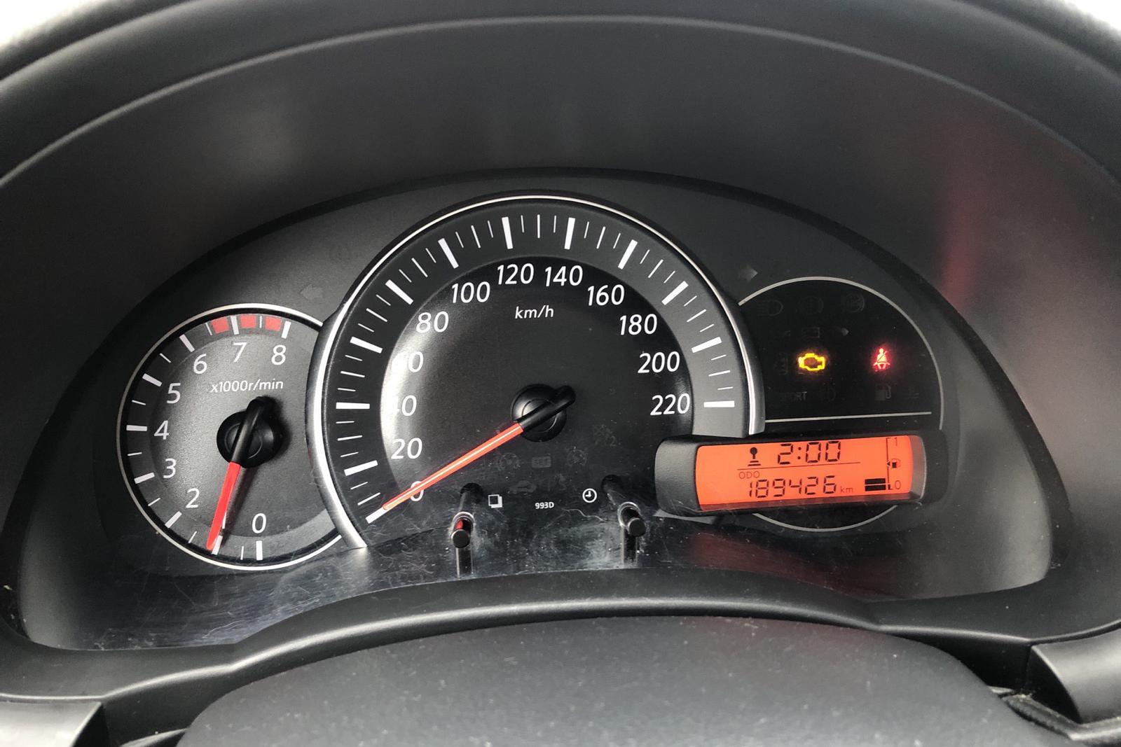 Nissan Micra 1.2 5dr (80hk) - 189 420 km - Manual - silver - 2015