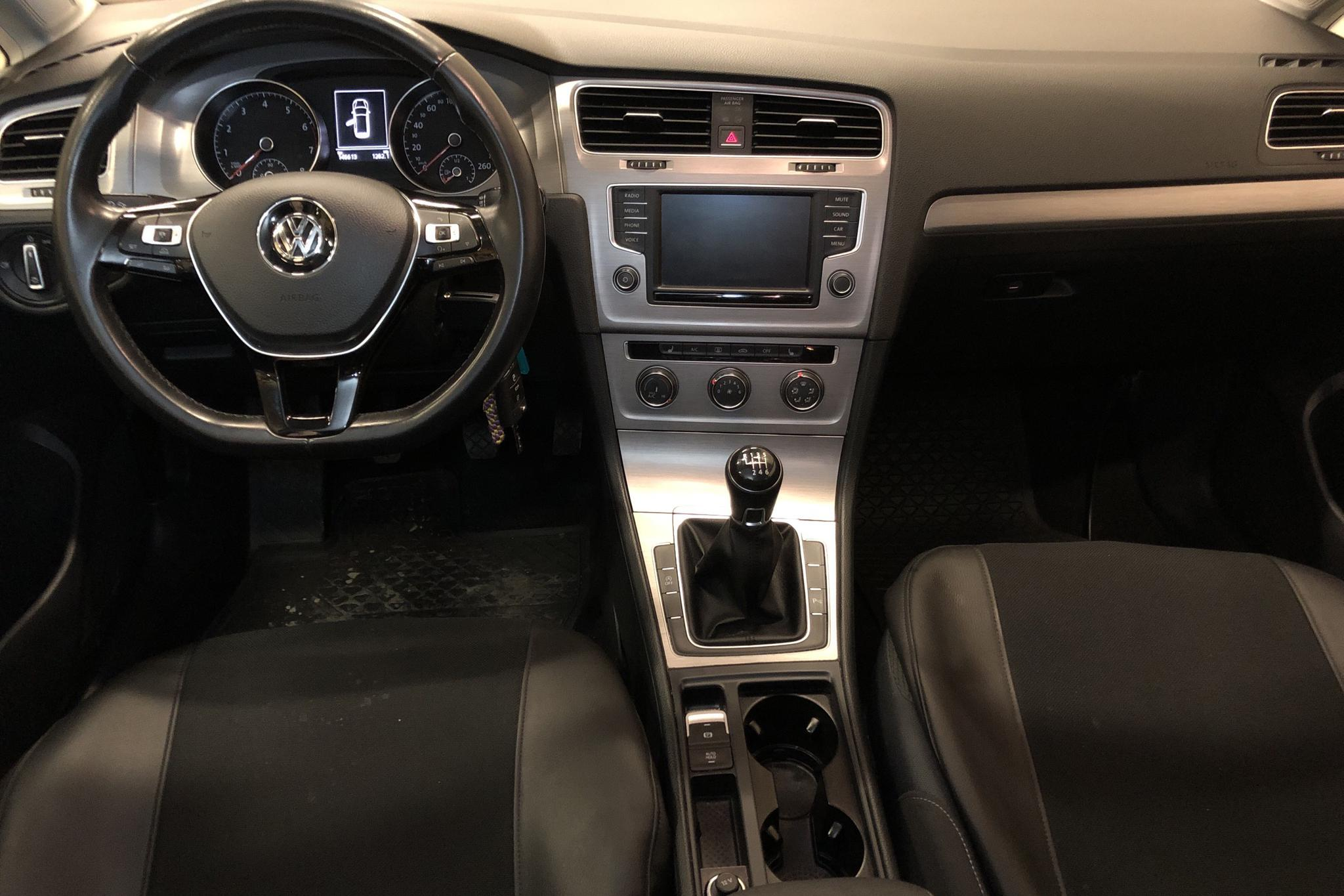 VW Golf VII 1.4 TSI Multifuel Sportscombi (125hk) - 146 620 km - Manual - white - 2016