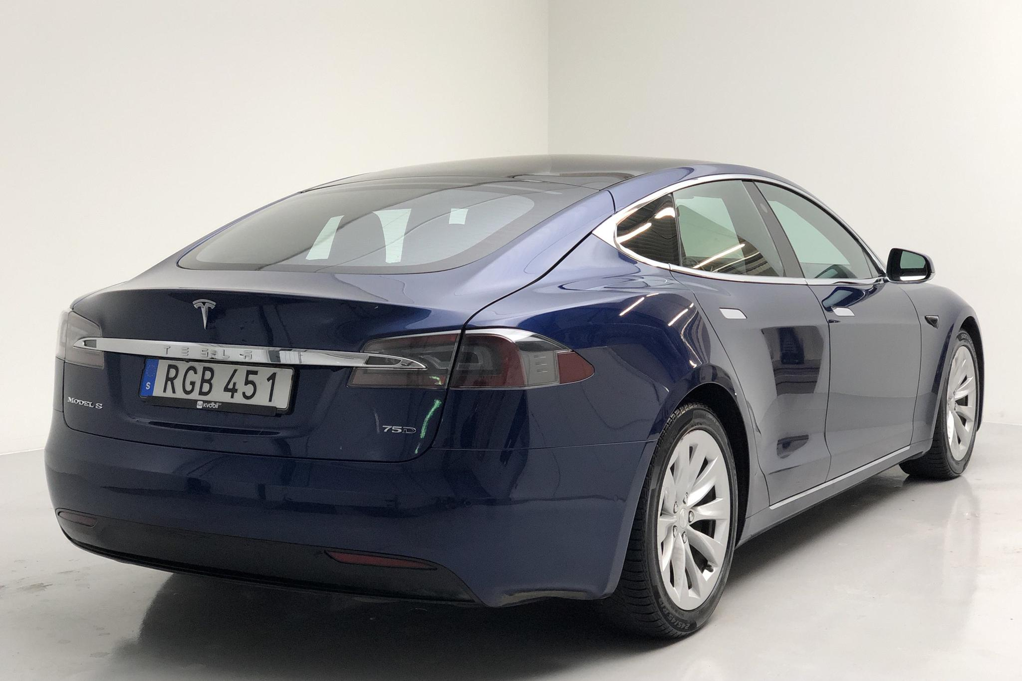 Tesla Model S 75D (525hk) - 37 440 km - Automatic - blue - 2018