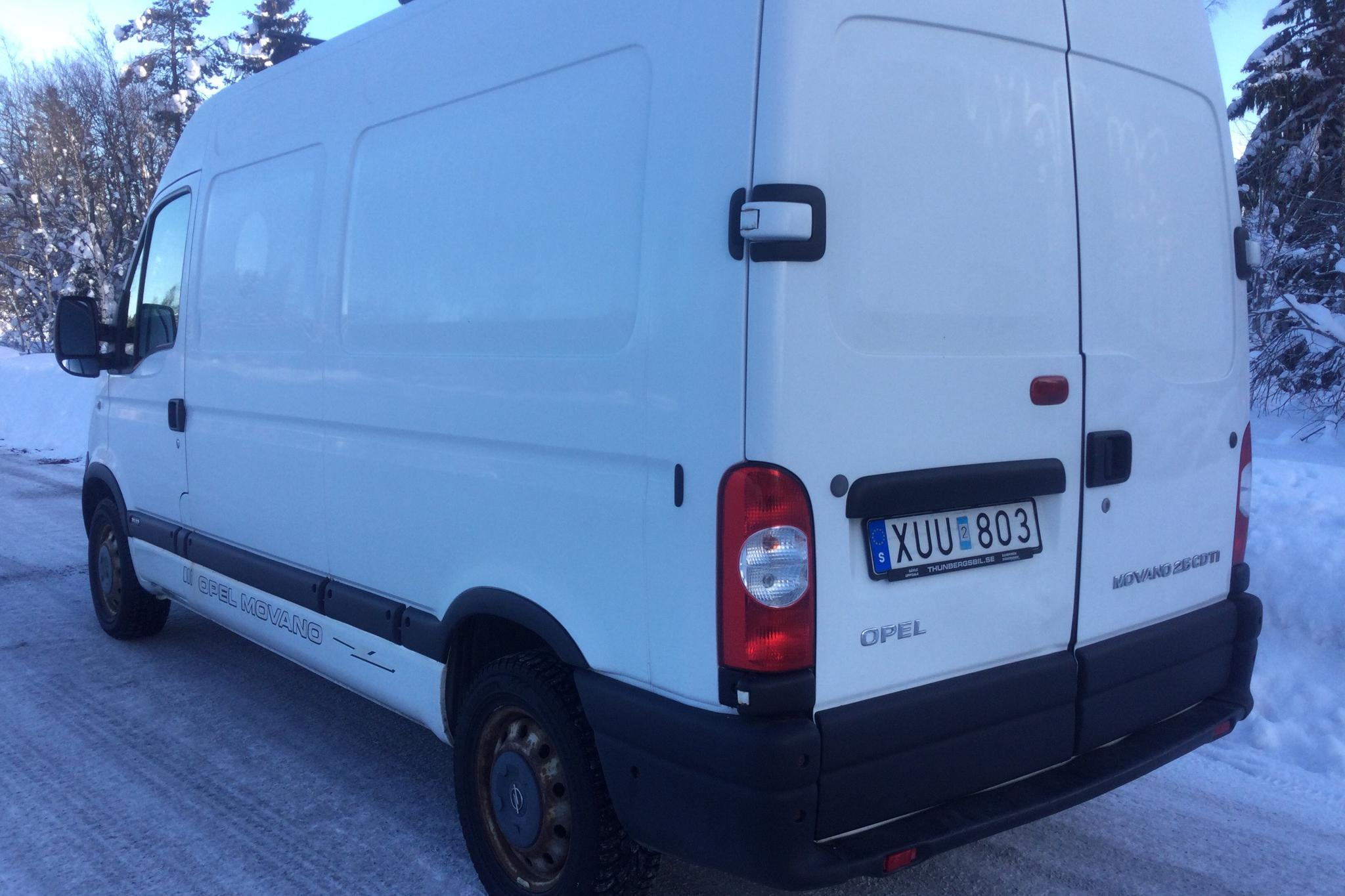 Opel Movano 2.5 CDTI Skåp (115hk) - 14 083 mil - Manuell - vit - 2005