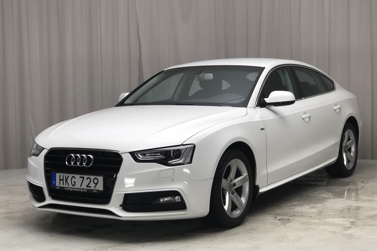 Audi A5 1.8 TFSI Sportback (177hk) - 27 350 km - Automatic - white - 2016