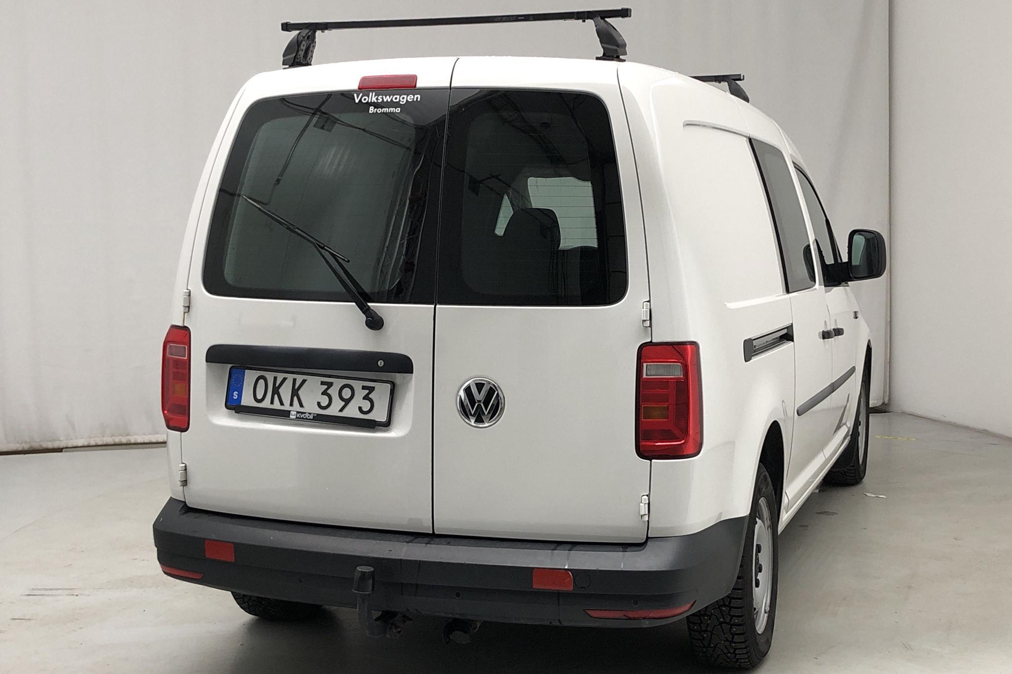 VW Caddy 1.4 TGI Maxi Skåp (110hk) - 2 068 mil - Automat - vit - 2017