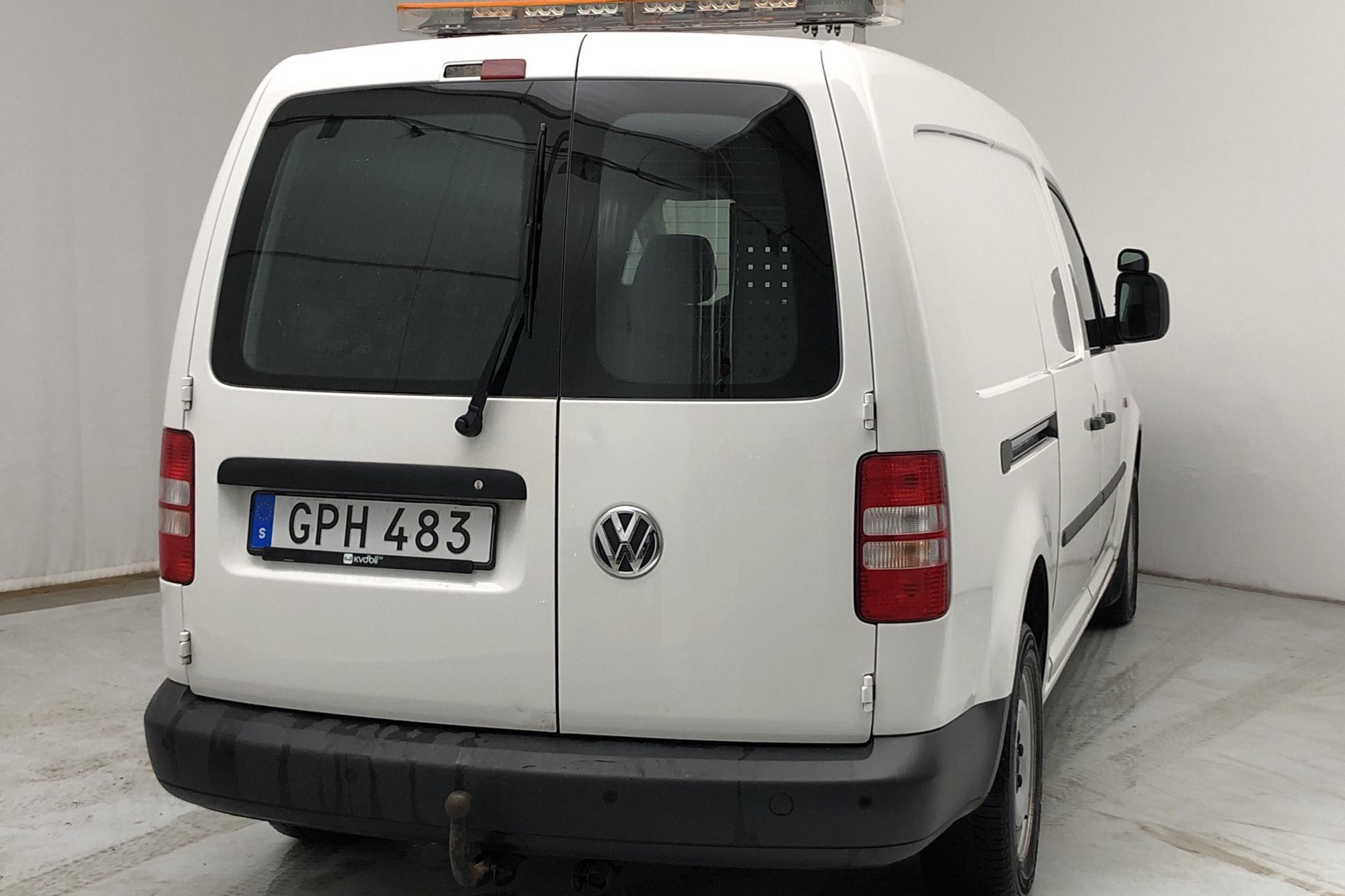 VW Caddy 1.6 TDI Maxi Skåp (102hk) - 6 510 mil - Automat - vit - 2015