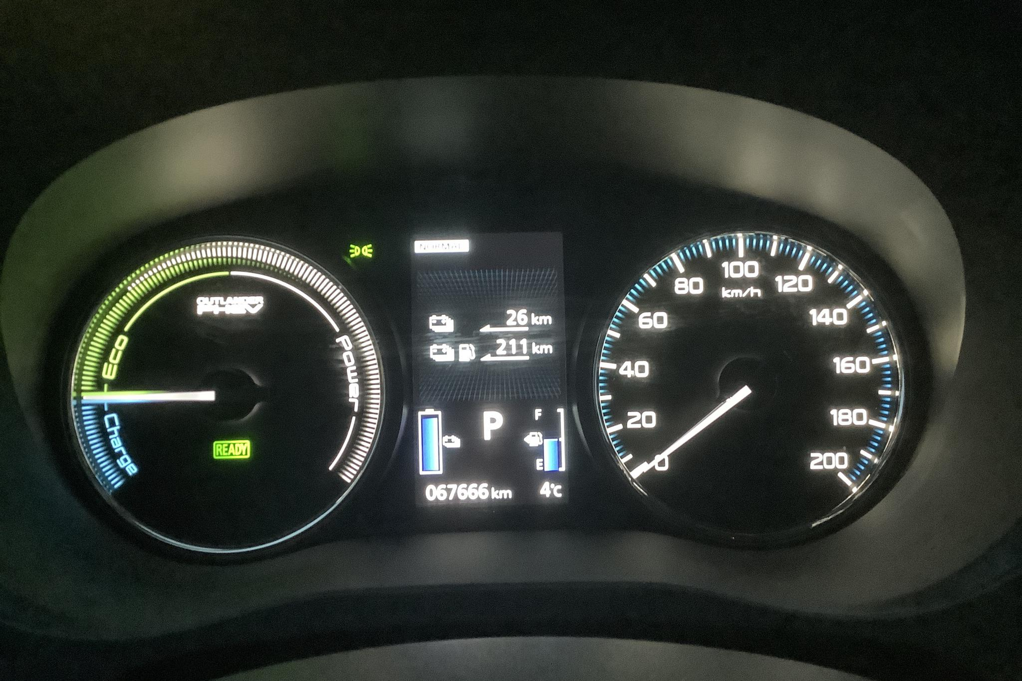 Mitsubishi Outlander 2.0 Plug-in Hybrid 4WD (121hk) - 67 660 km - Automatic - brown - 2016