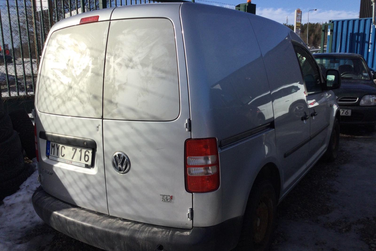 VW Caddy 1.6 TDI Skåp (102hk) (REP) - 21 098 mil - Automat - silver - 2013