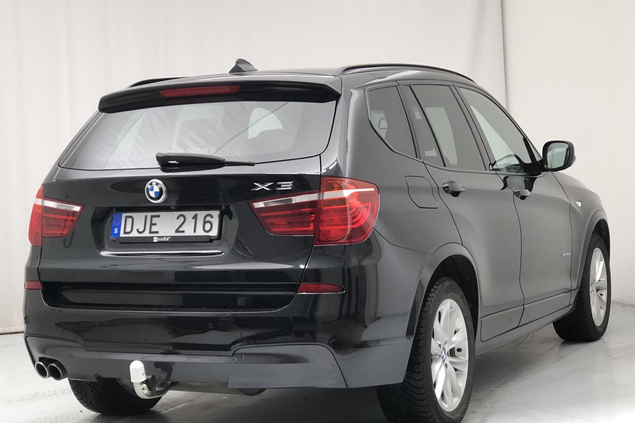 BMW X3 xDrive35d, F25 (313hk) - 151 800 km - Automatic - black - 2014