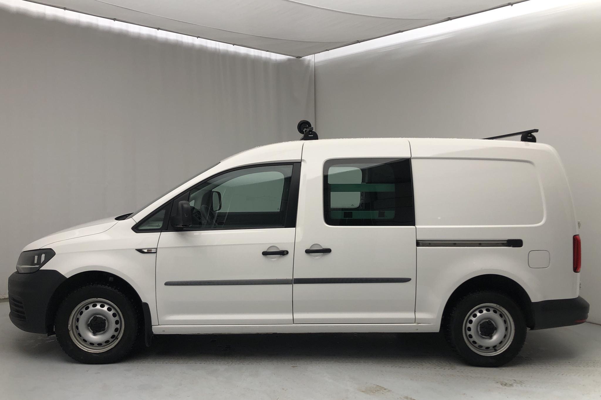 VW Caddy Maxi 1.4 TGI (110hk) - 25 600 km - Automatic - white - 2017