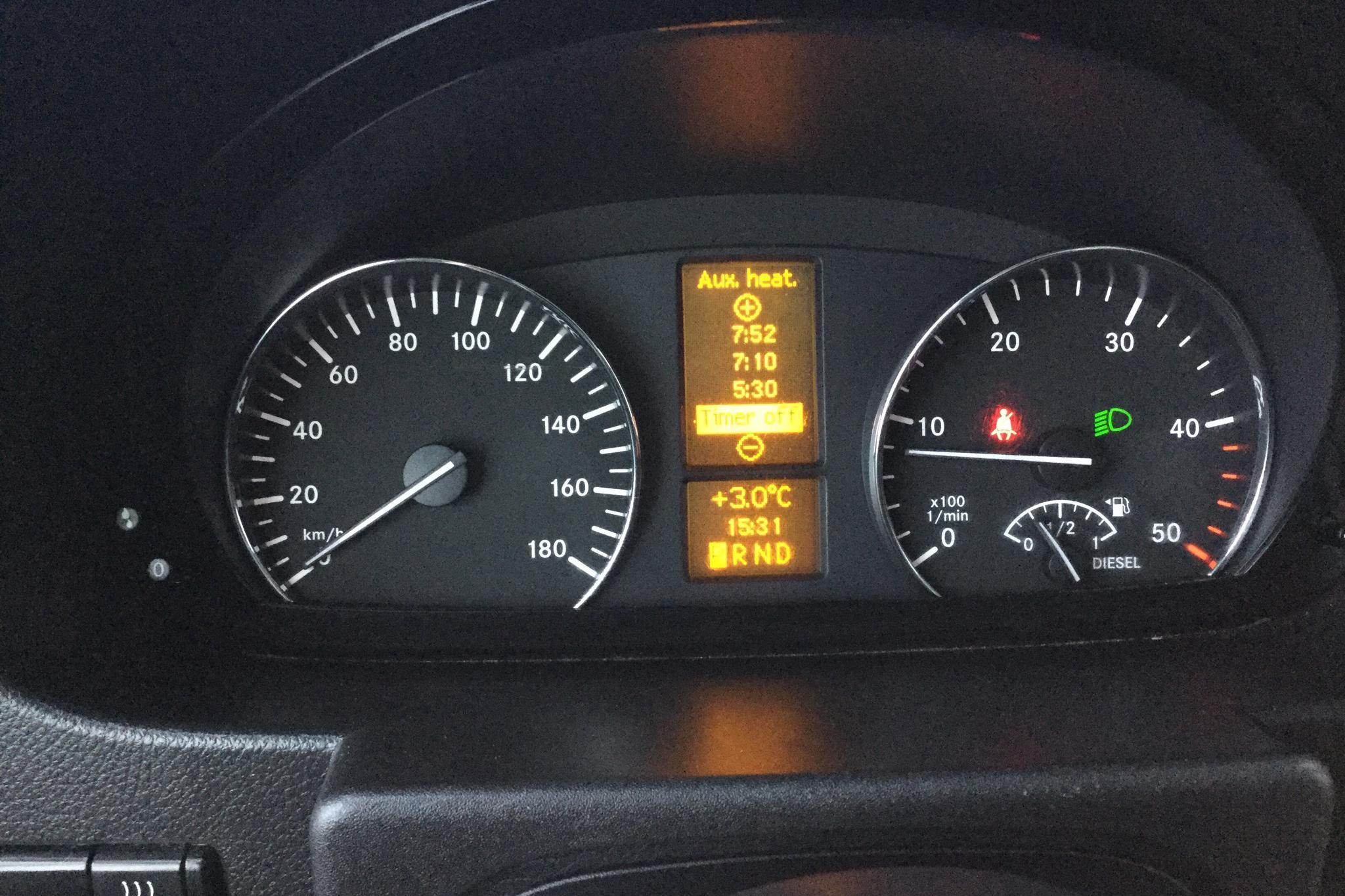 Mercedes Sprinter 316 CDI Pickup/Chassi (163hk) - 15 309 mil - Automat - vit - 2017