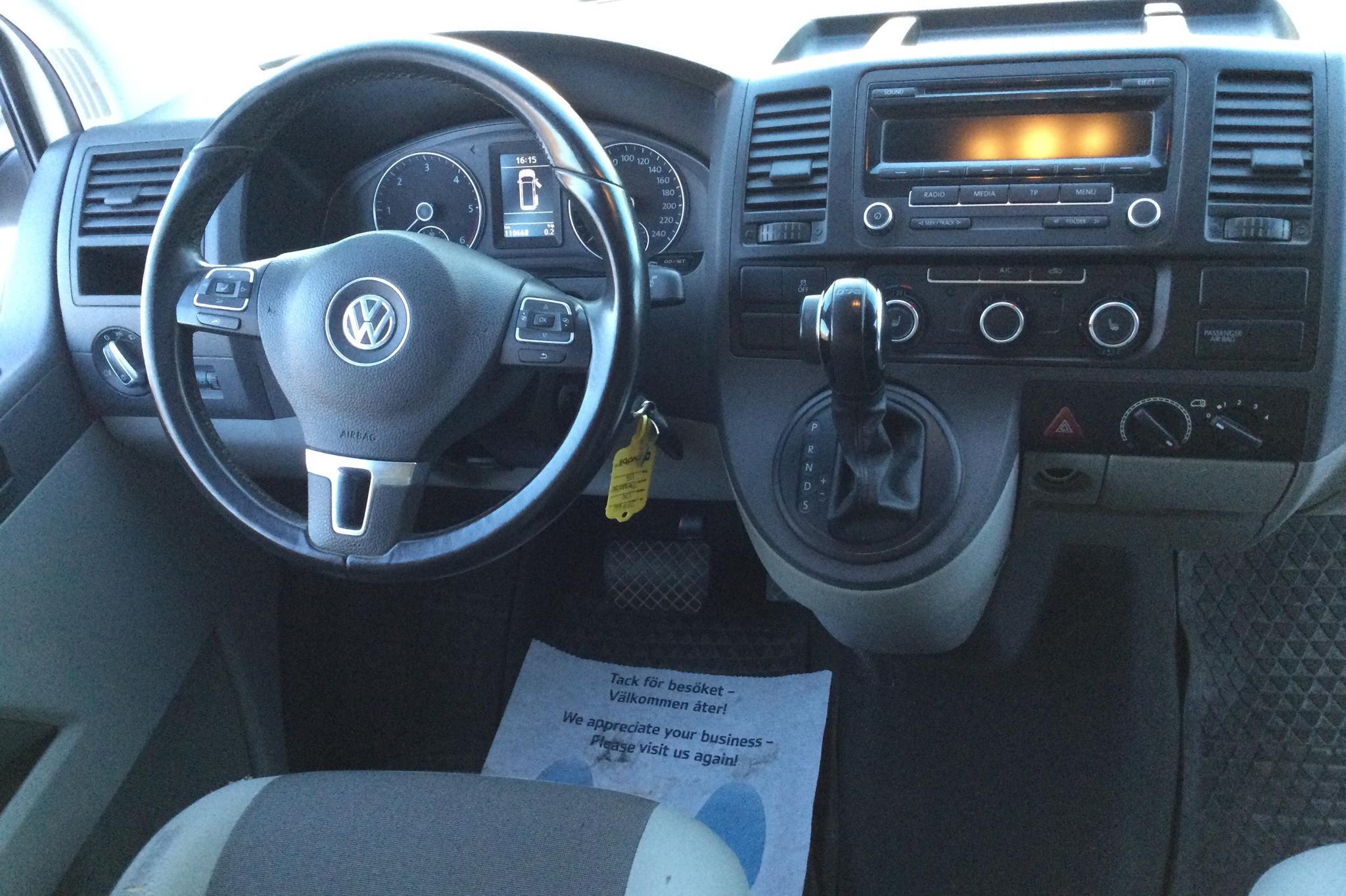 VW Transporter T5 2.0 TDI 4MOTION (180hk) - 110 670 km - Automatic - white - 2014