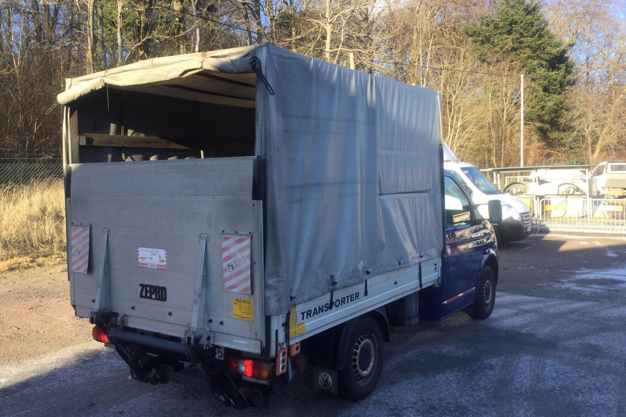 VW Transporter T5 1.9 TDI Pickup (84hk) - 13 524 mil - Manuell - Dark Blue - 2009