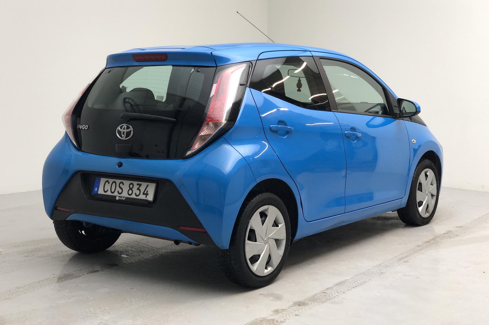 Toyota Aygo 1.0 5dr (69hk) - 91 060 km - Automatic - blue - 2018