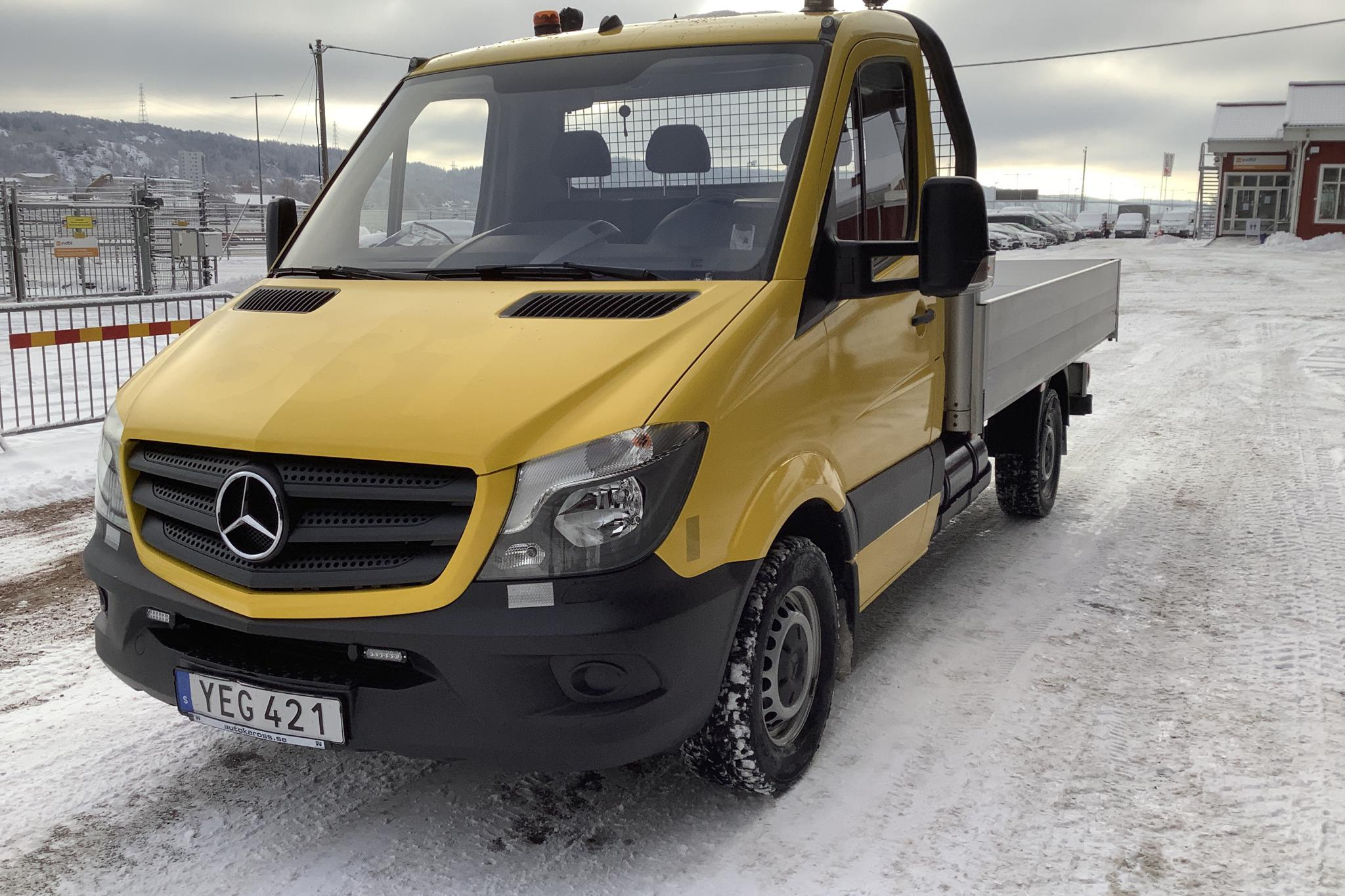 Mercedes Sprinter 316 NGT Pickup/Chassi (156hk) - 12 480 km - Automatic - yellow - 2016