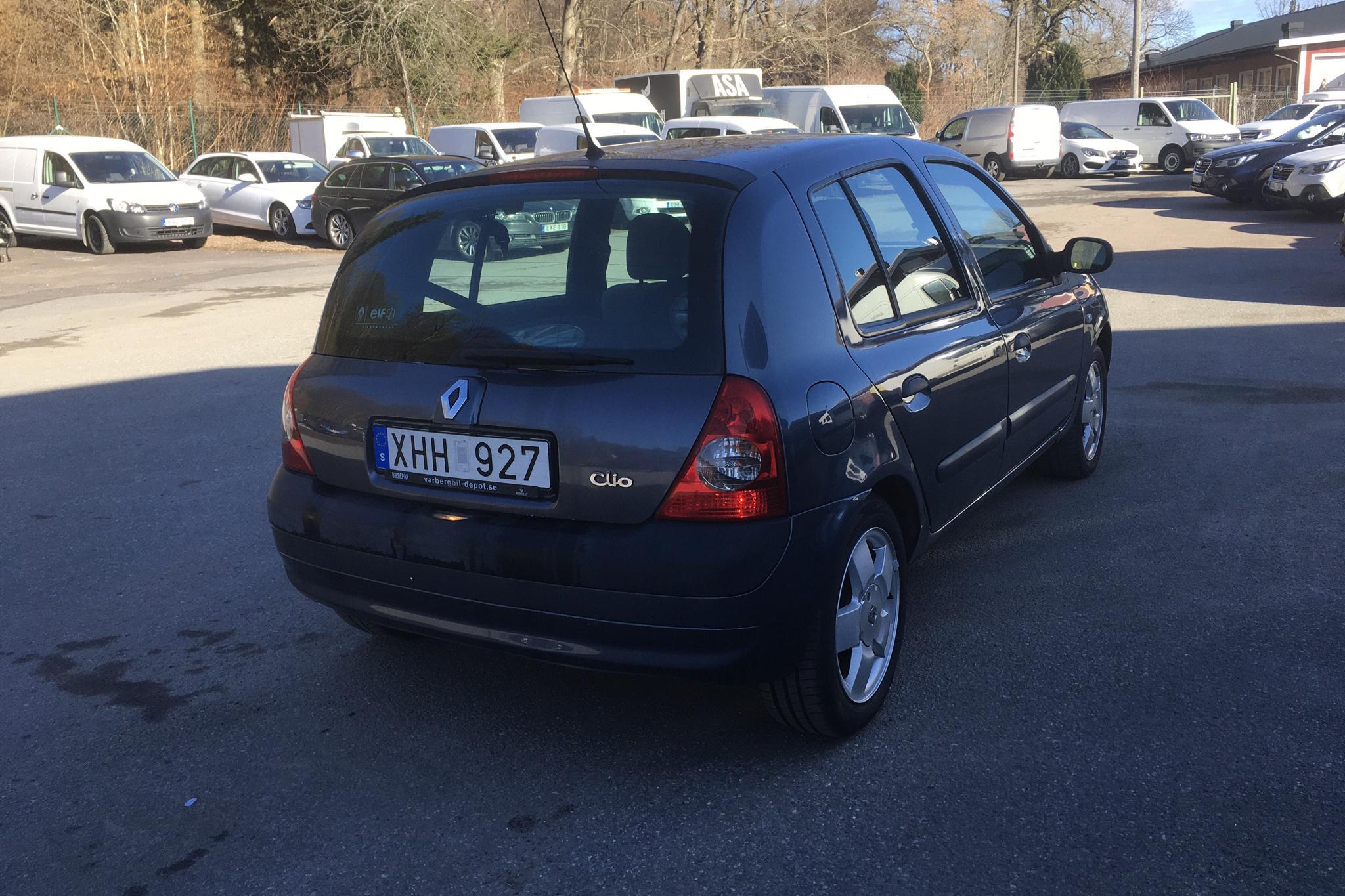 Renault Clio II 1.2 16v 5dr (75hk) - 172 320 km - Manual - blue - 2006