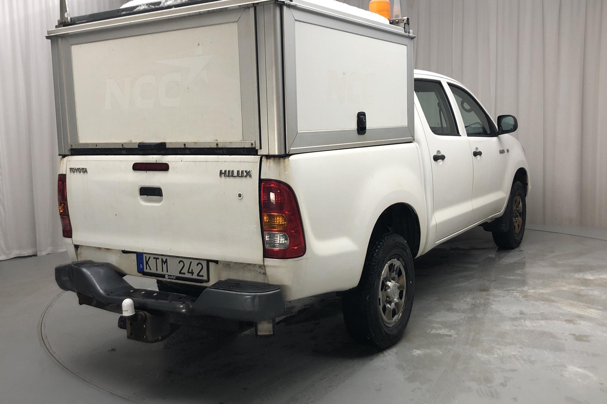 Toyota Hilux 2.5 D-4D 4WD (144hk) - 19 239 mil - Manuell - vit - 2010