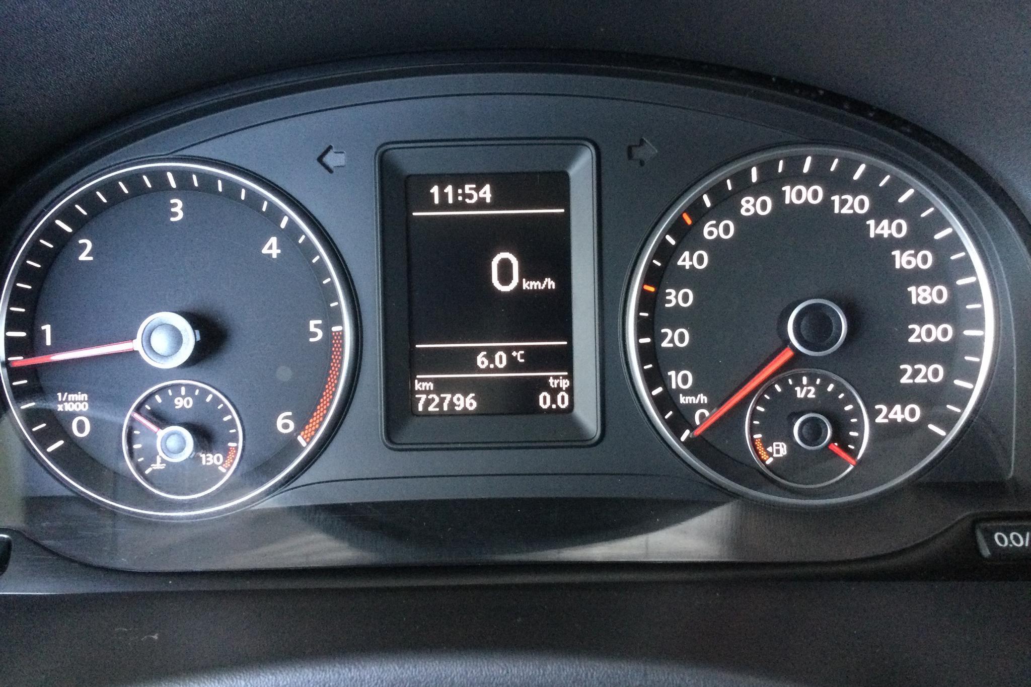 VW Caddy 2.0 TDI Maxi Skåp 4-motion (110hk) - 7 280 mil - Manuell - vit - 2012