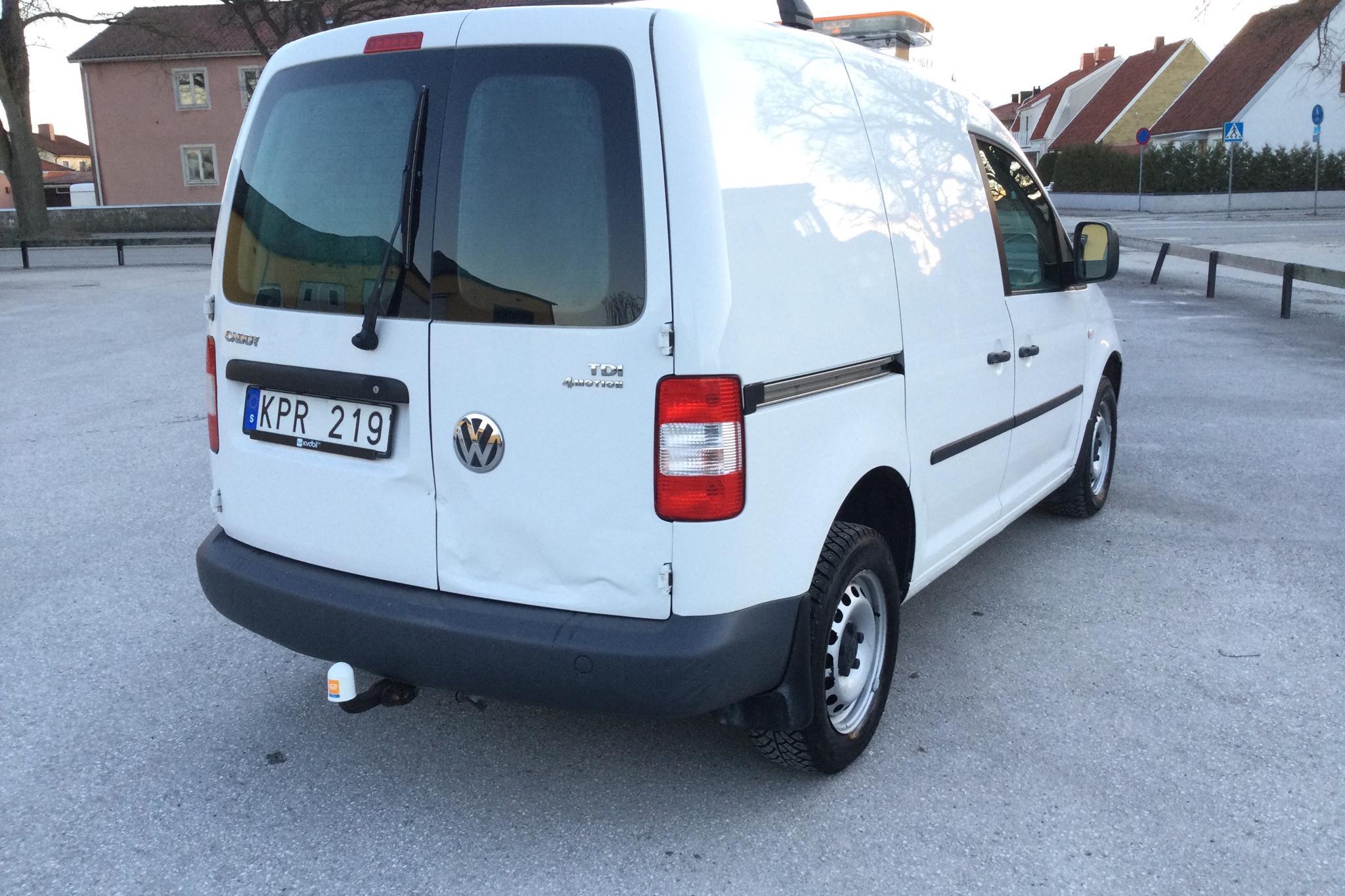 VW Caddy 1.9 TDI Skåp 4motion (105hk) - 197 440 km - Manual - white - 2010
