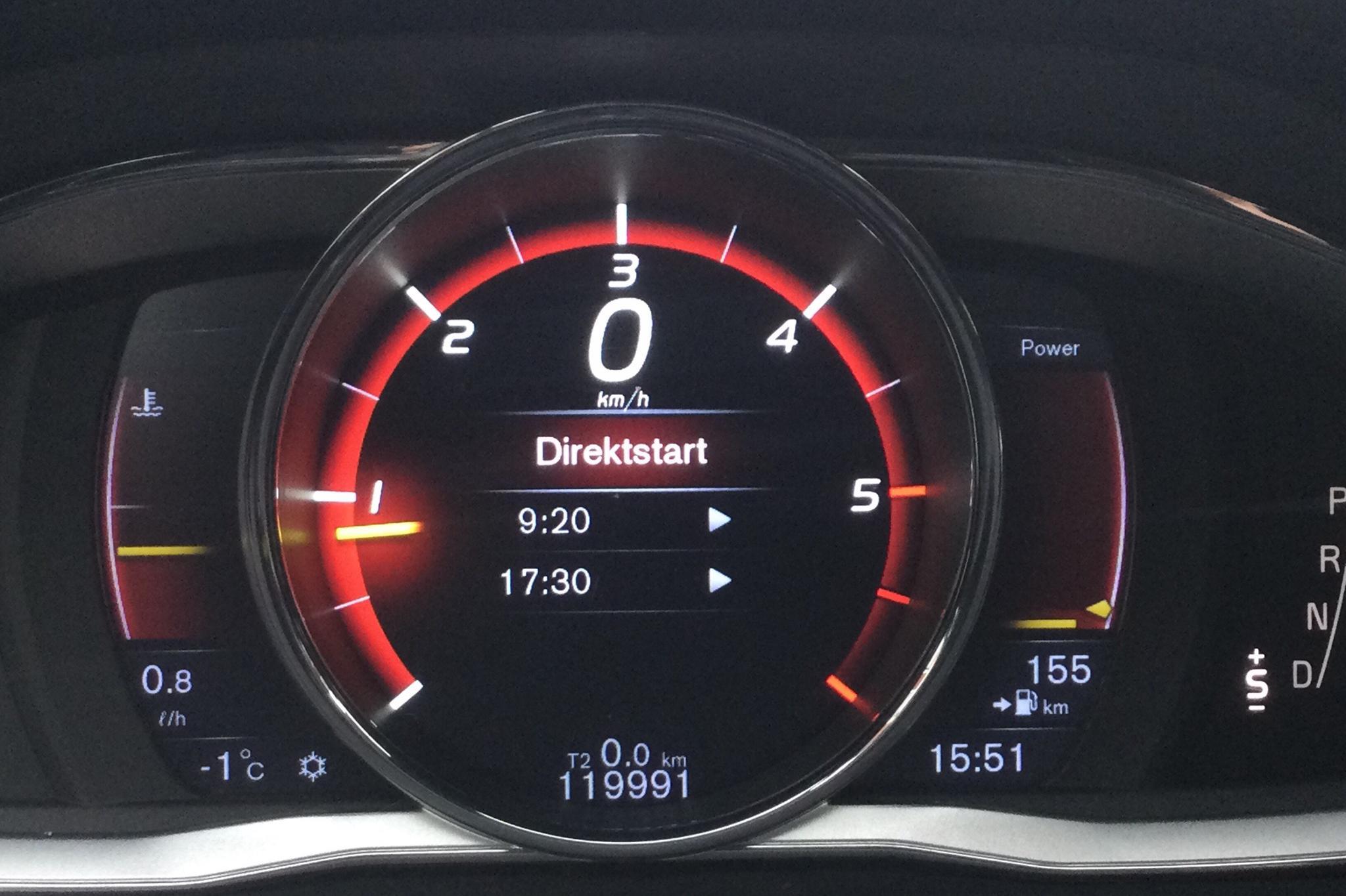 Volvo V60 D5 (225hk) - 119 990 km - Automatic - black - 2016