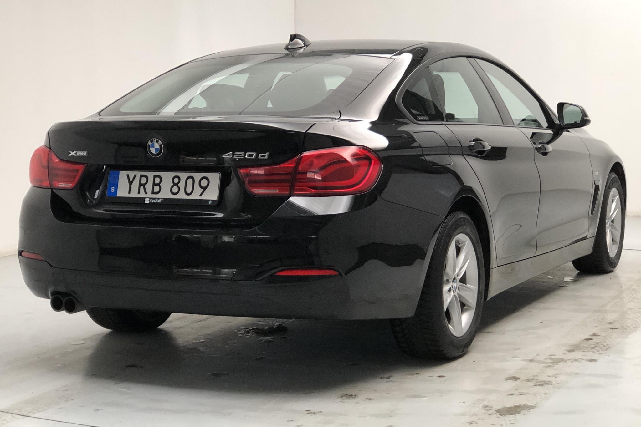 BMW 420d xDrive Gran Coupé, F36 (190hk) - 73 720 km - Automatic - black - 2018