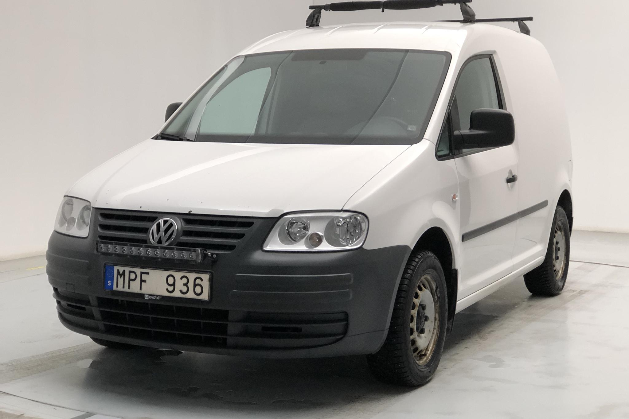 VW Caddy 1.9 TDI Skåp (75hk) - 13 461 mil - Manuell - vit - 2010