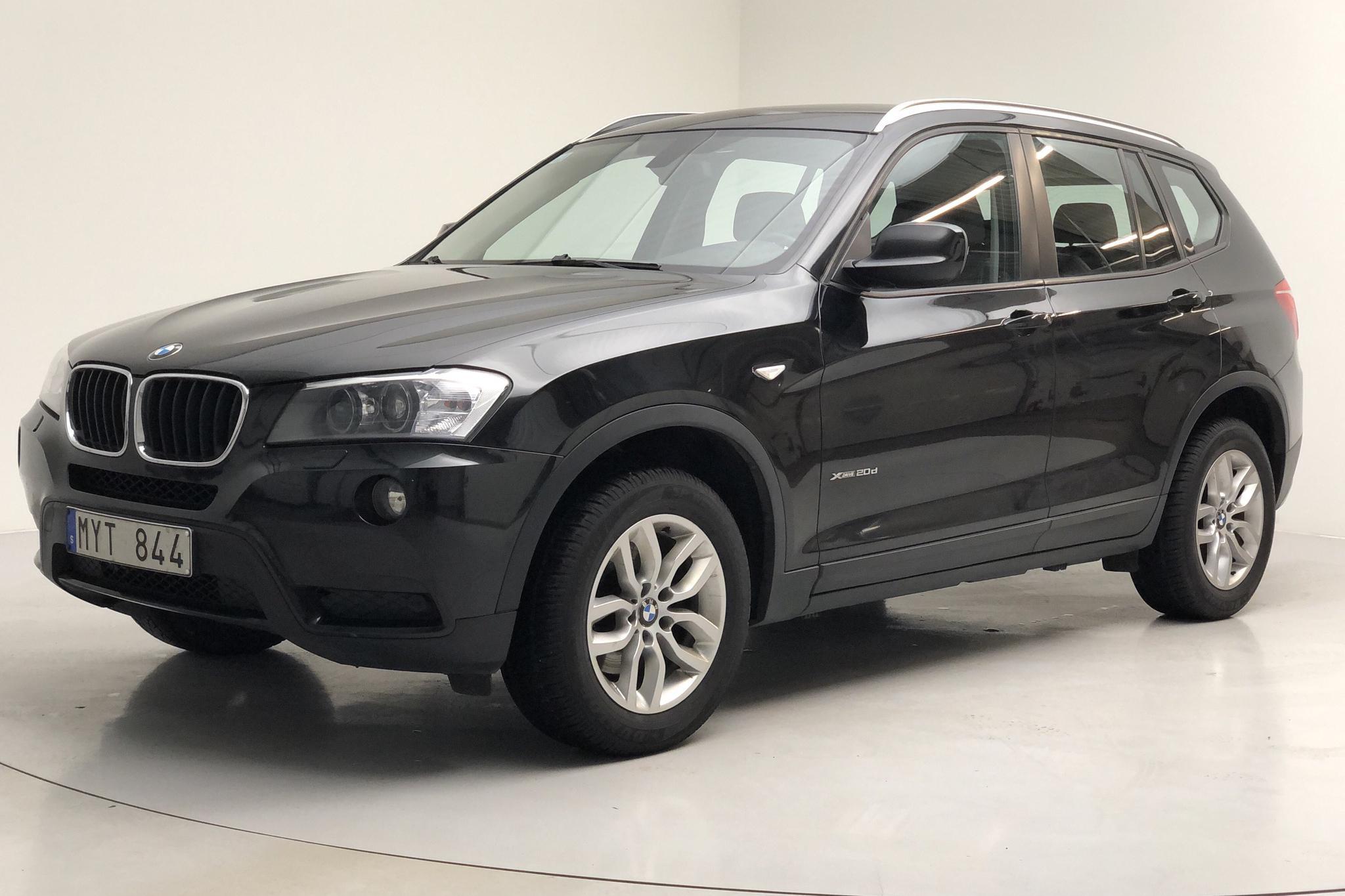 BMW X3 xDrive20d, F25 (184hk) - 200 910 km - Automatic - black - 2013