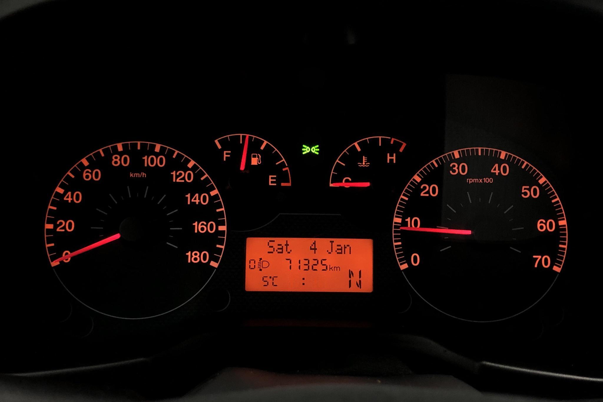 Citroen Nemo 1.4 HDI Skåp (70hk) - 71 320 km - Automatic - red - 2010
