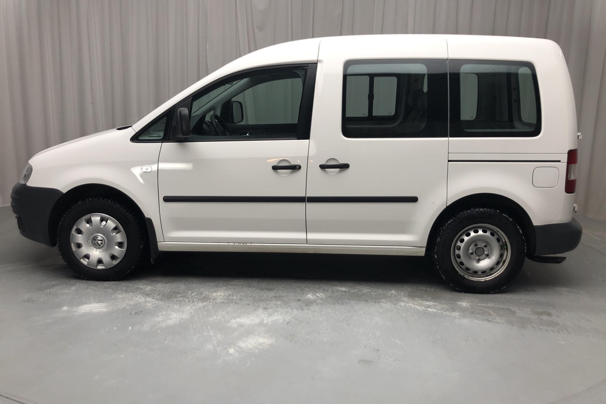 VW Caddy Life 2.0 EcoFuel (109hk) - 7 580 mil - Manuell - vit - 2008