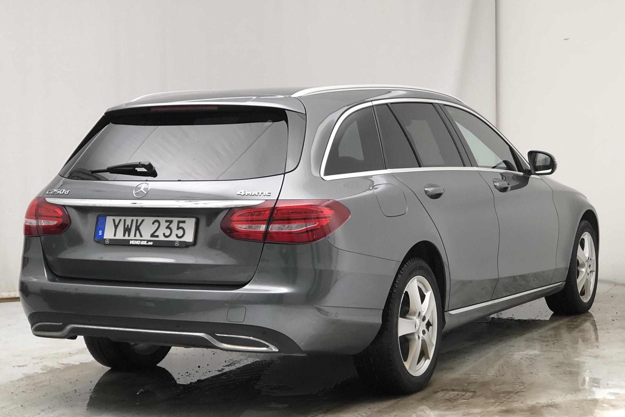 Mercedes C 250 d 4MATIC Kombi S205 (204hk) - 8 096 mil - Automat - grå - 2018