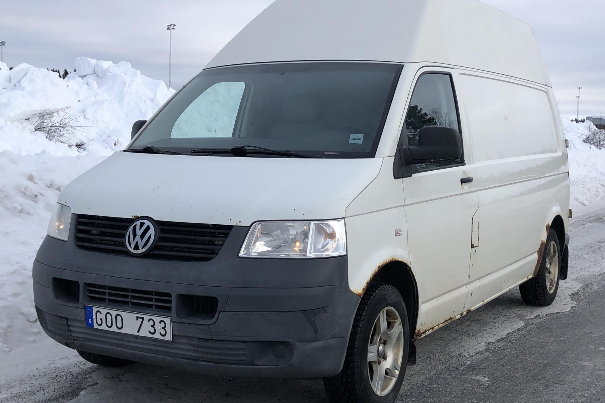 VW Transporter T5 2.5 TDI (130hk) - 212 560 km - Manual - white - 2008