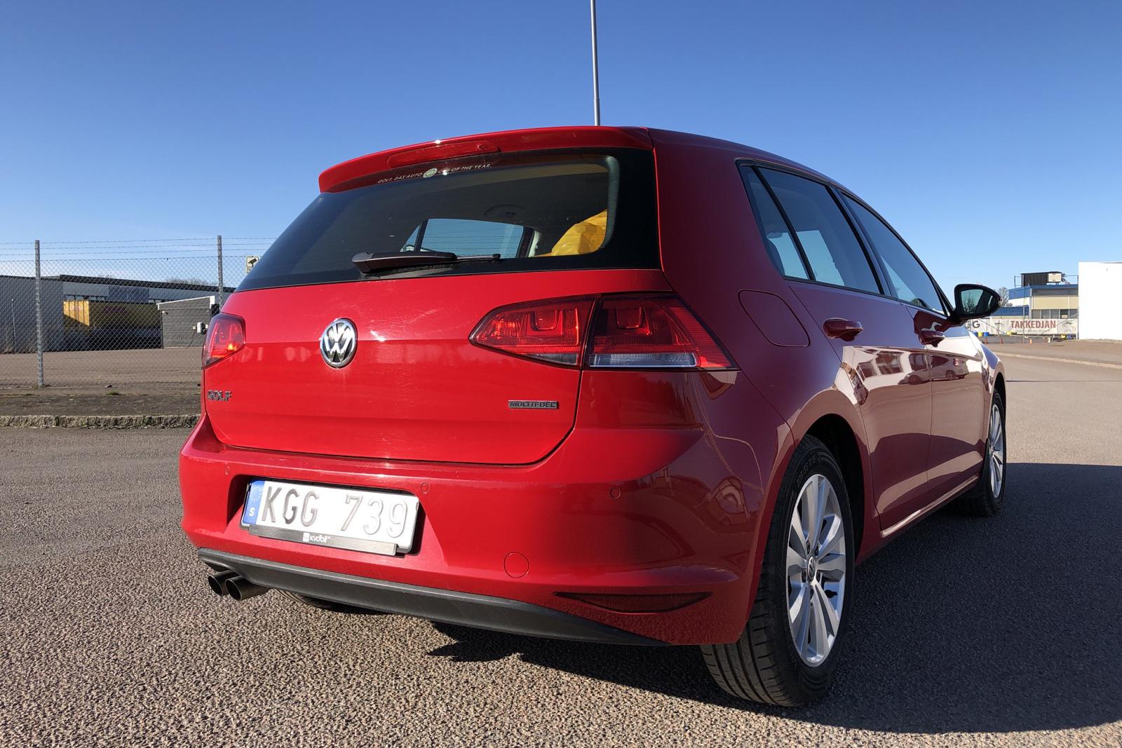 VW Golf VII 1.4 TSI Multifuel 5dr (122hk) - 57 190 km - Manual - red - 2014