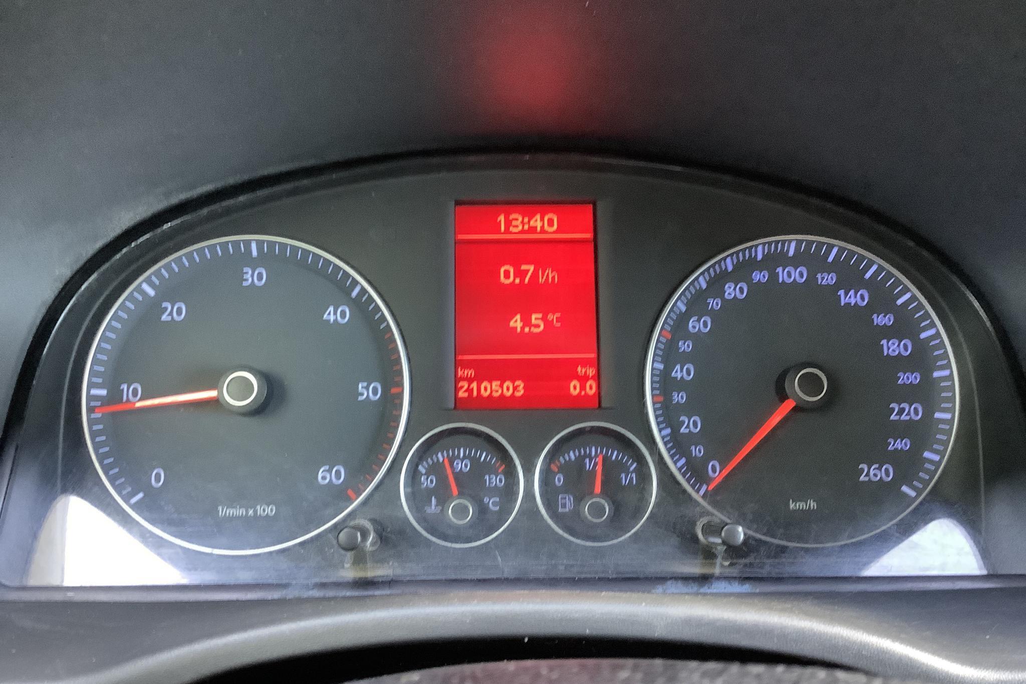 VW Caddy 1.9 TDI Skåp (105hk) - 21 050 mil - Manuell - vit - 2009