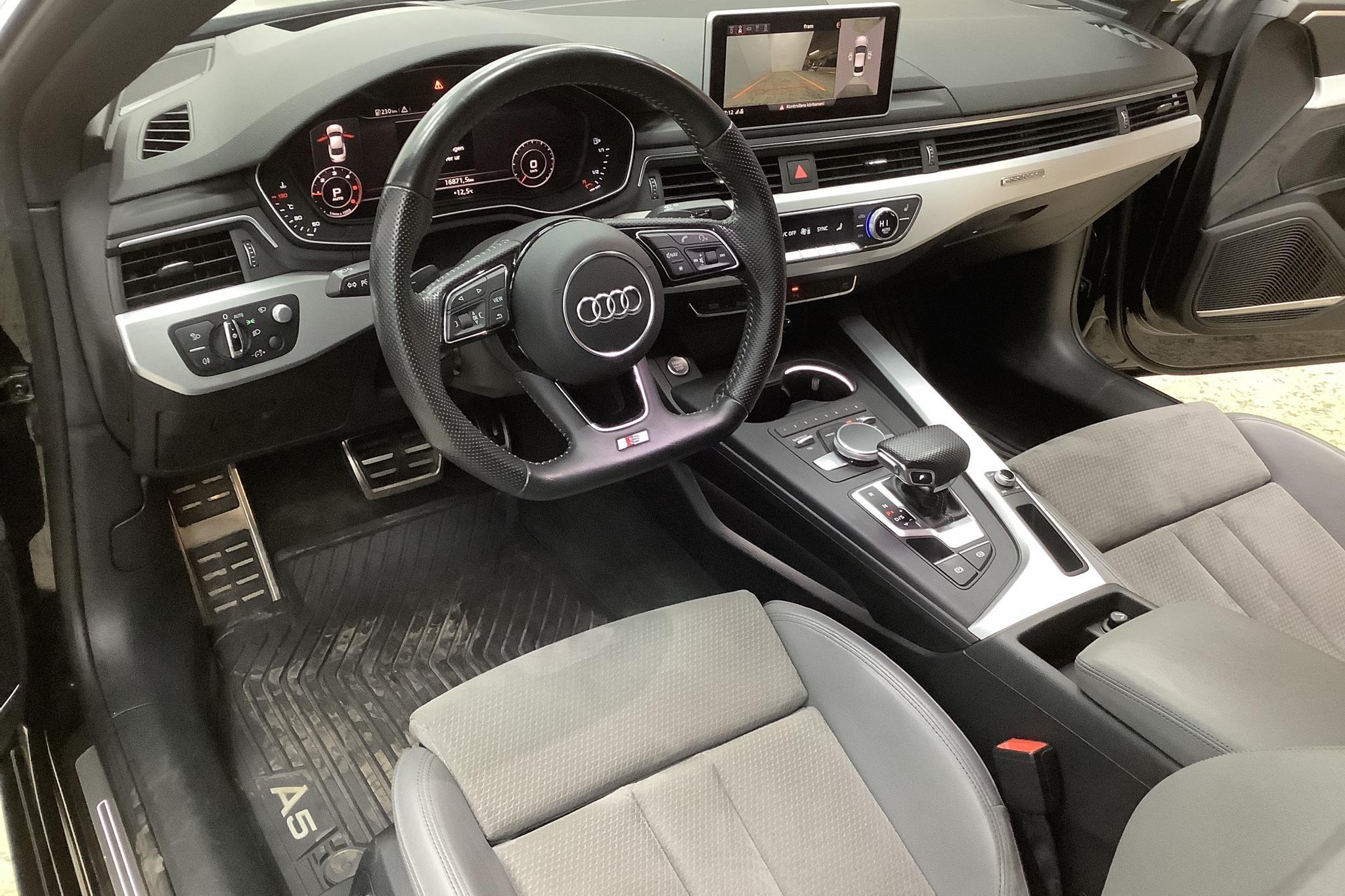 Audi A5 3.0 TDI Coupé quattro (218hk) - 5 179 mil - Automat - svart - 2017