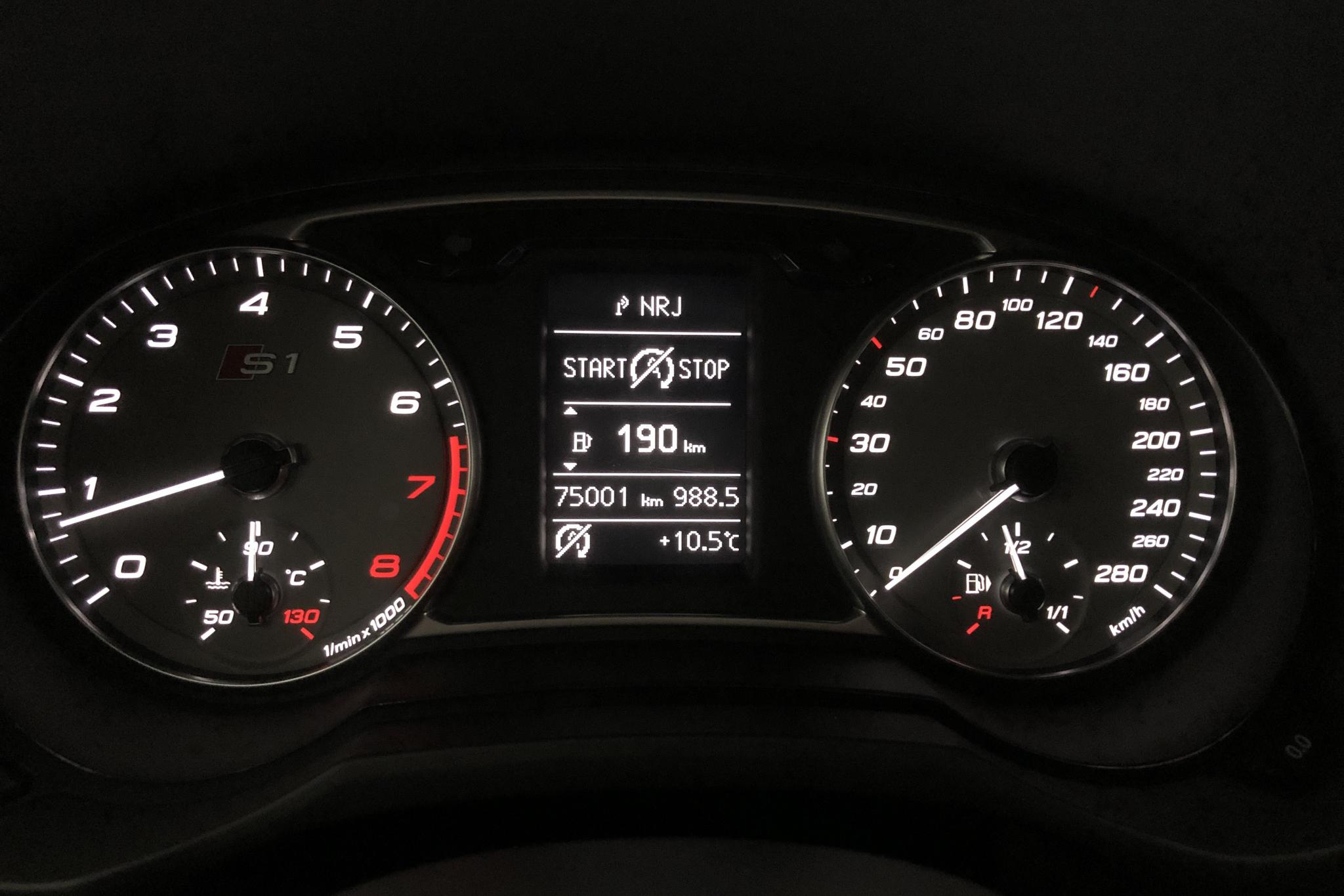 Audi S1 Sportback 2.0 TFSI quattro (231hk) - 7 499 mil - Manuell - blå - 2016