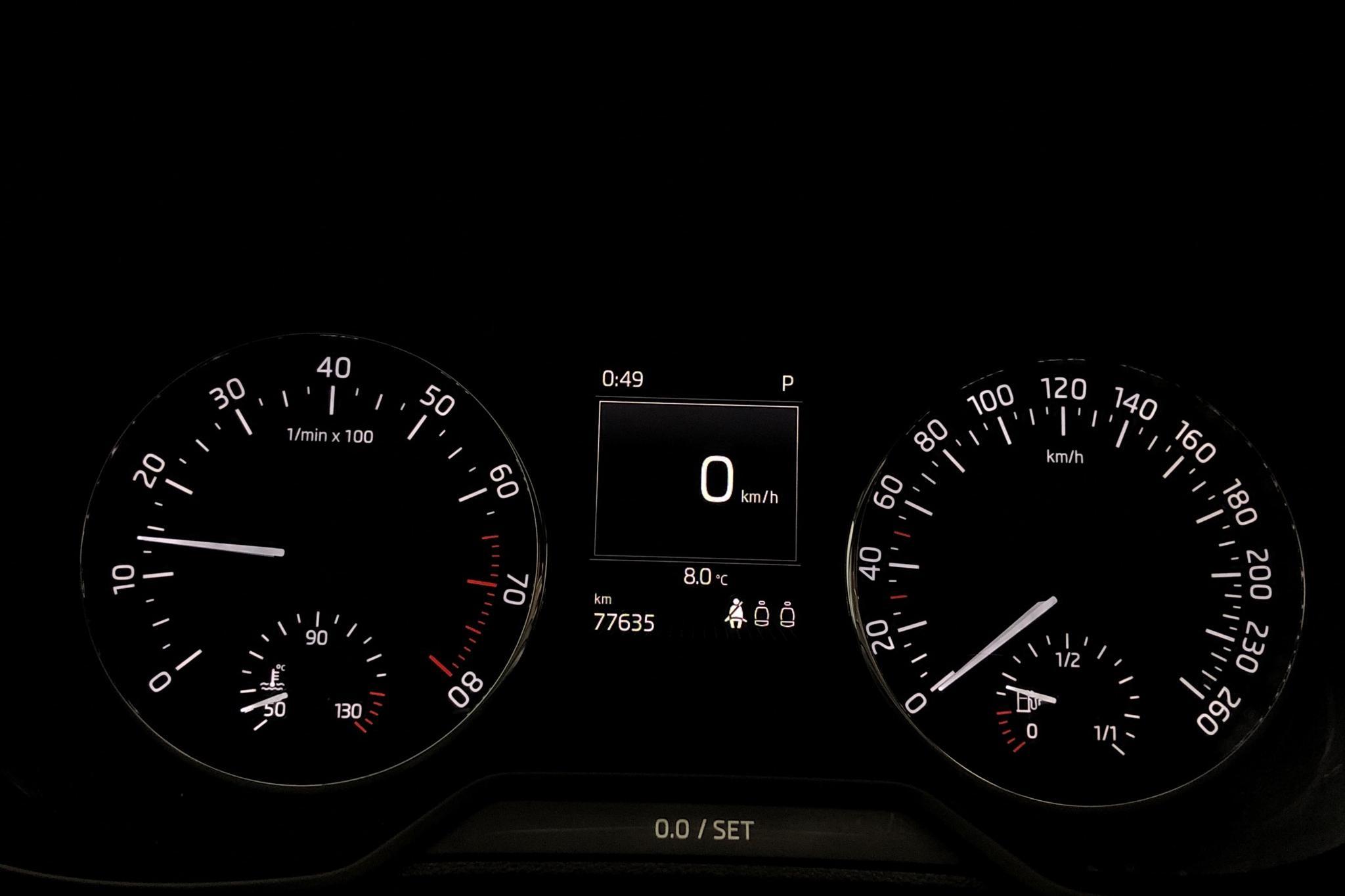 Skoda Octavia III 1.0 TSI Combi (115hk) - 77 630 km - Automatic - white - 2017