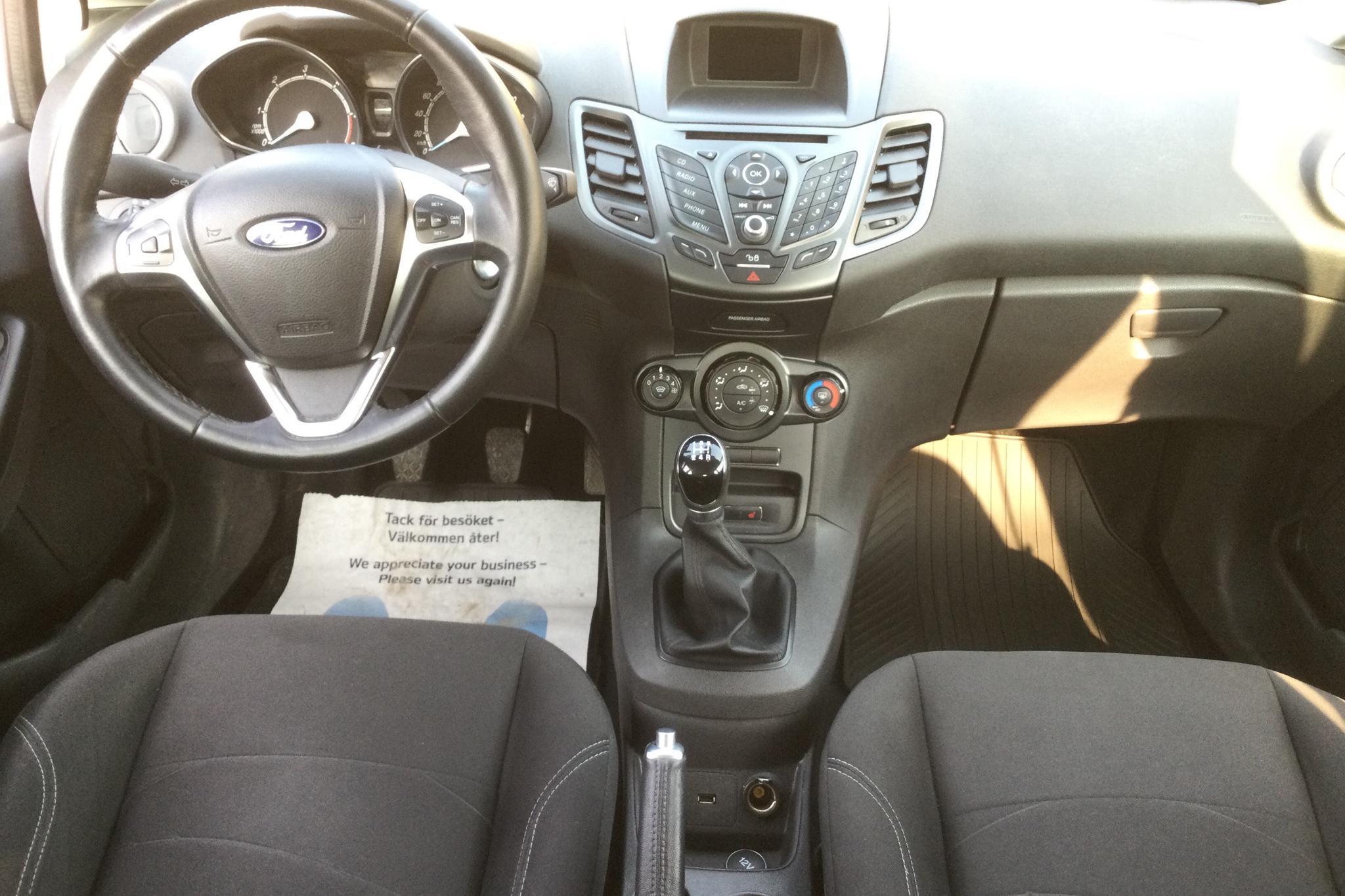 Ford Fiesta 1.5 TDCi Econetic 5dr (95hk) - 149 880 km - Manual - white - 2017