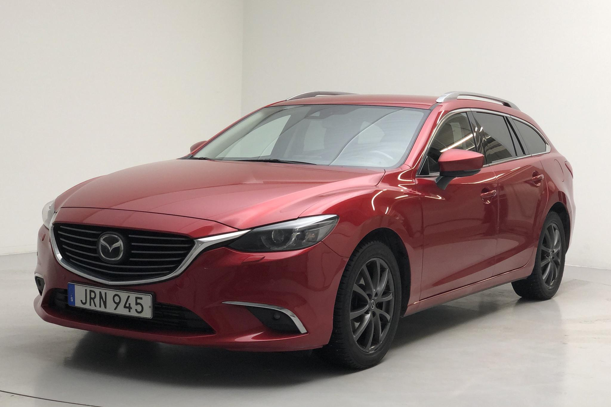 Mazda 6 2.2 DE Kombi AWD (175hk) - 14 688 mil - Automat - röd - 2017