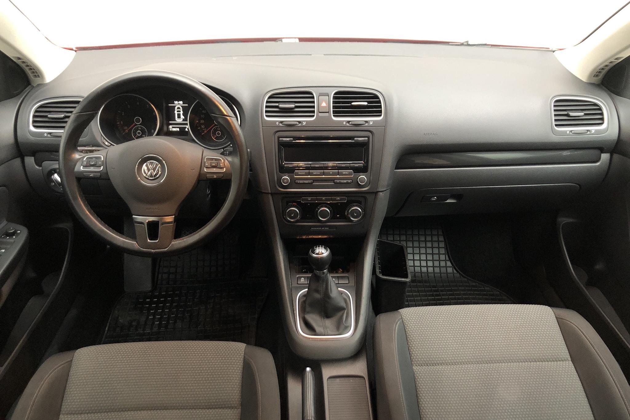 VW Golf VI 1.4 TSI Variant (122hk) - 119 070 km - Manual - red - 2012