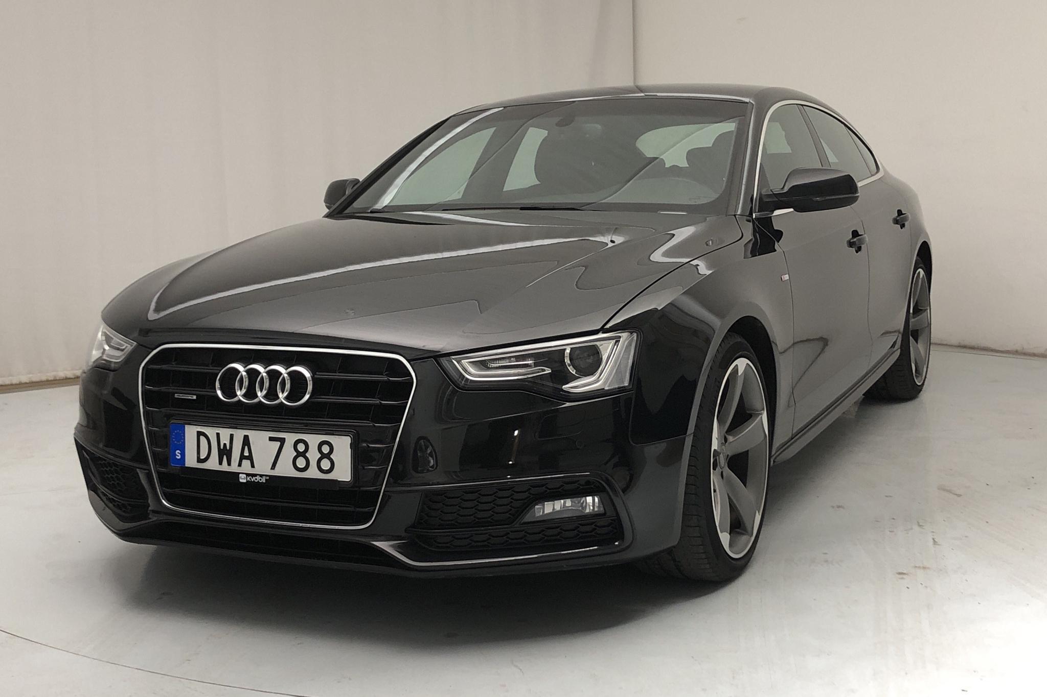 Audi A5 2.0 TDI Clean diesel Sportback quattro (190hk) - 38 140 km - Automatic - black - 2015