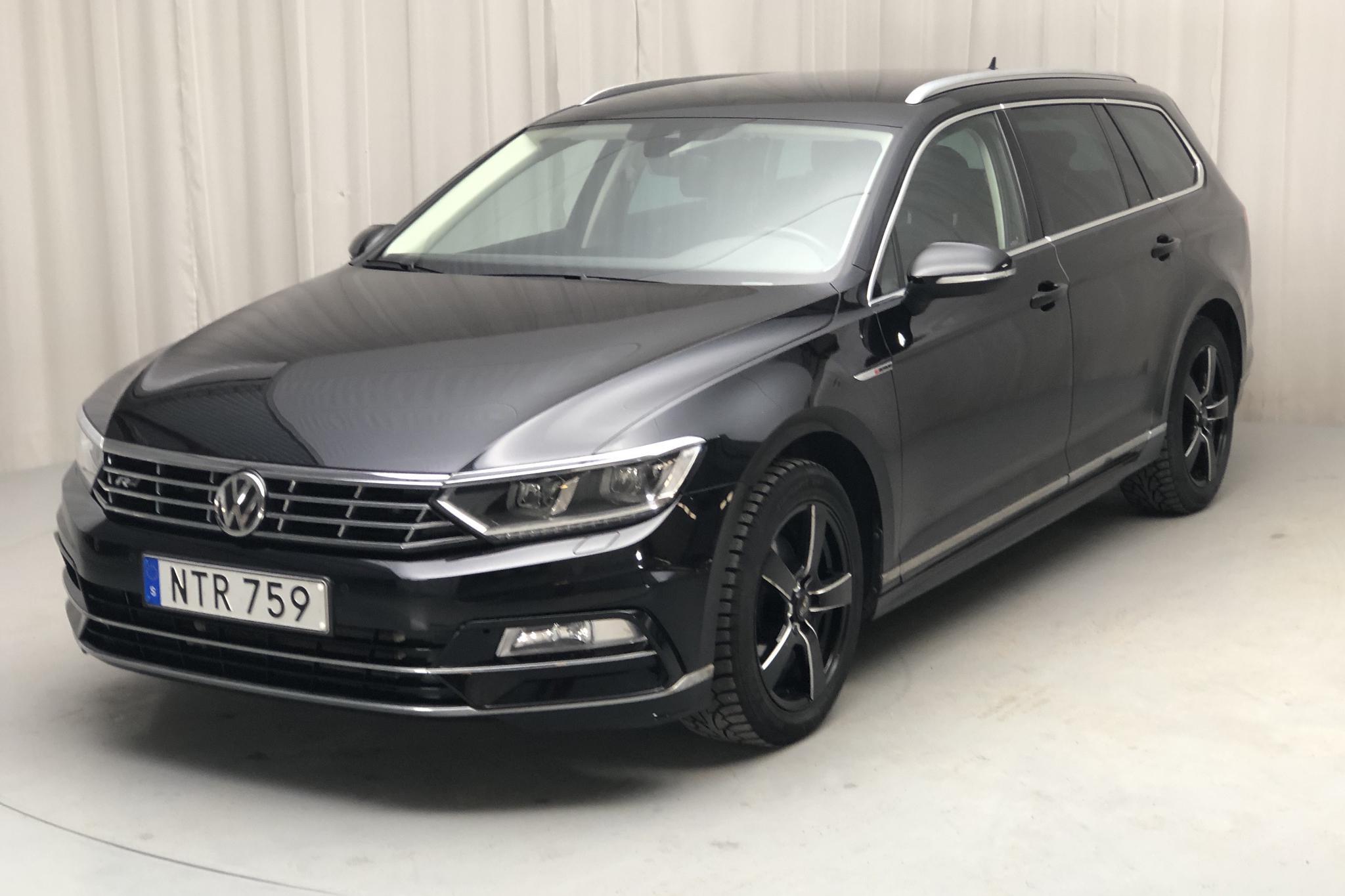 VW Passat 2.0 TDI Sportscombi 4MOTION (190hk) - 7 358 mil - Automat - svart - 2018
