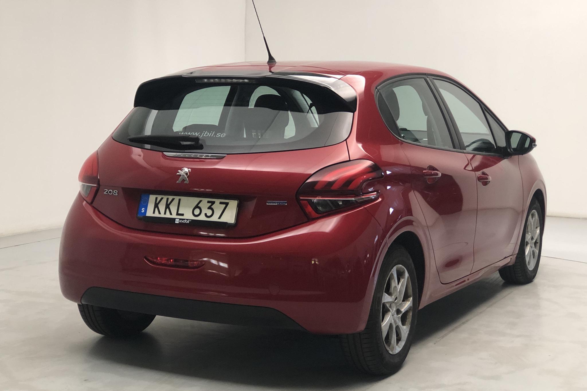 Peugeot 208 BlueHDi 5dr (100hk) - 43 980 km - Manual - Dark Red - 2016