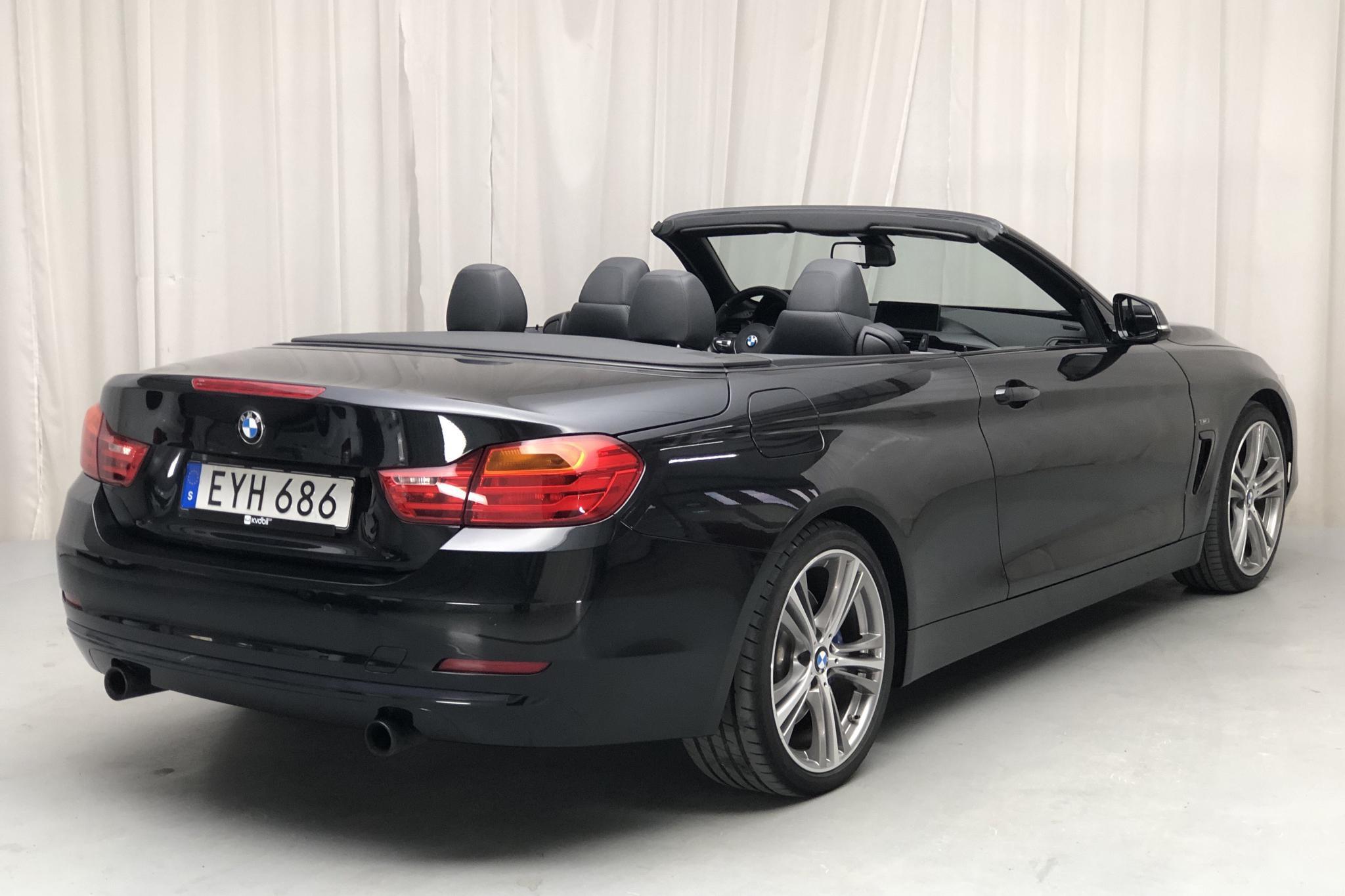 BMW 435i Cabriolet, F33 (306hk) - 60 670 km - Manual - black - 2014